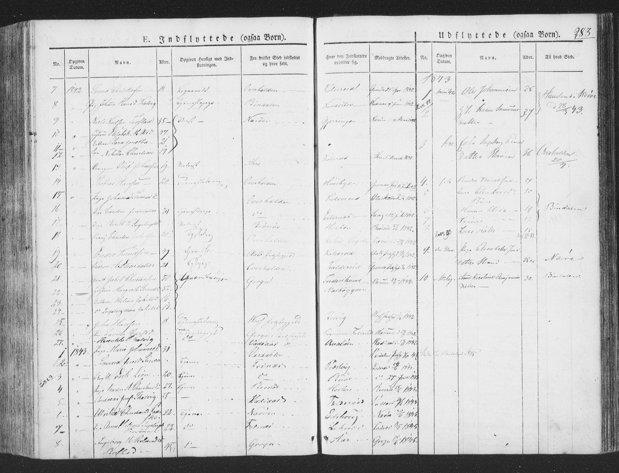 SAT, Ministerialprotokoller, klokkerbøker og fødselsregistre - Nord-Trøndelag, 780/L0639: Ministerialbok nr. 780A04, 1830-1844, s. 283