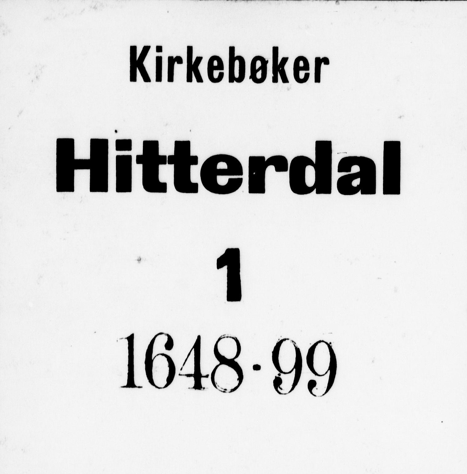 SAKO, Heddal kirkebøker, F/Fa/L0001: Ministerialbok nr. I 1, 1648-1699