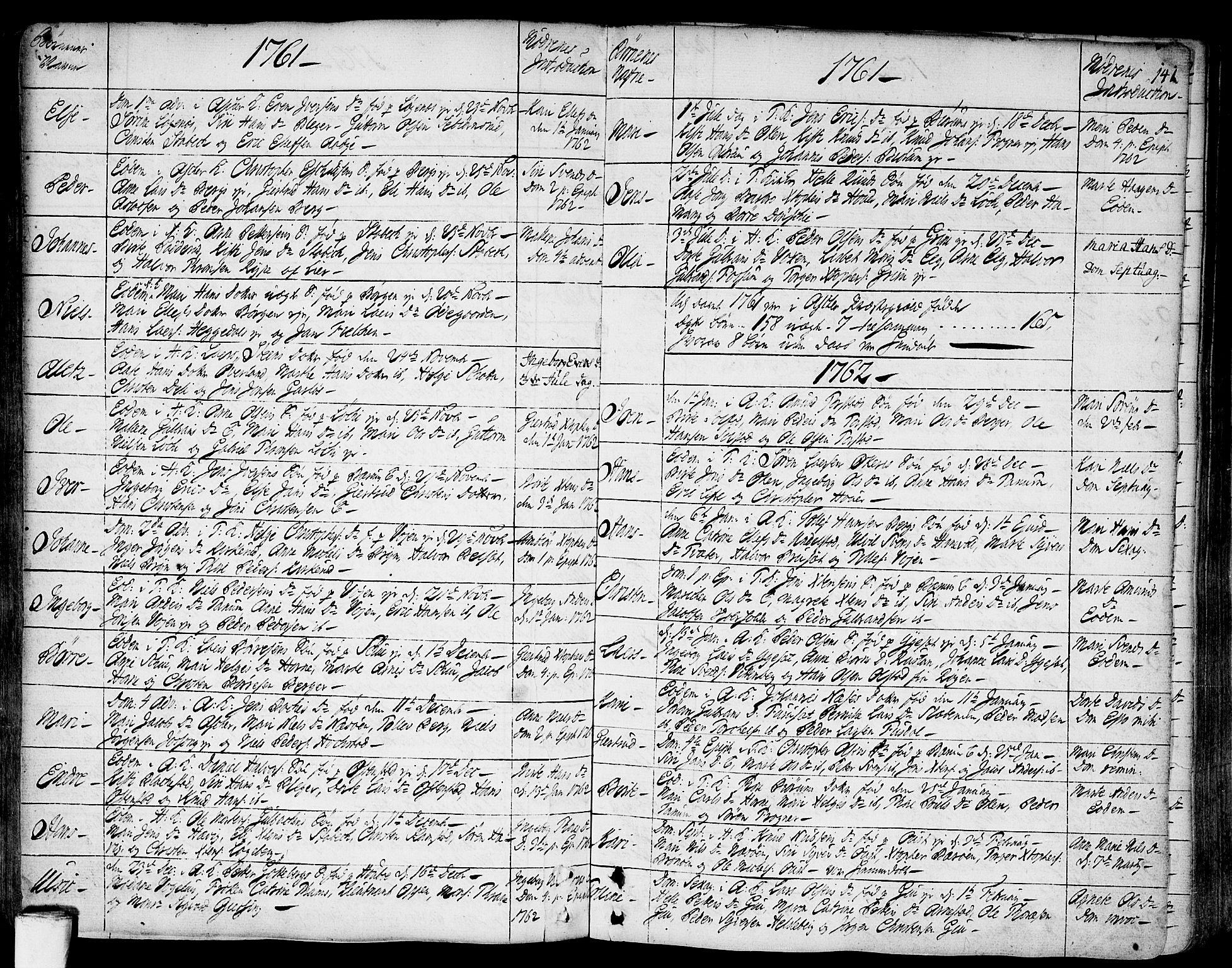 SAO, Asker prestekontor Kirkebøker, F/Fa/L0002: Ministerialbok nr. I 2, 1733-1766, s. 141