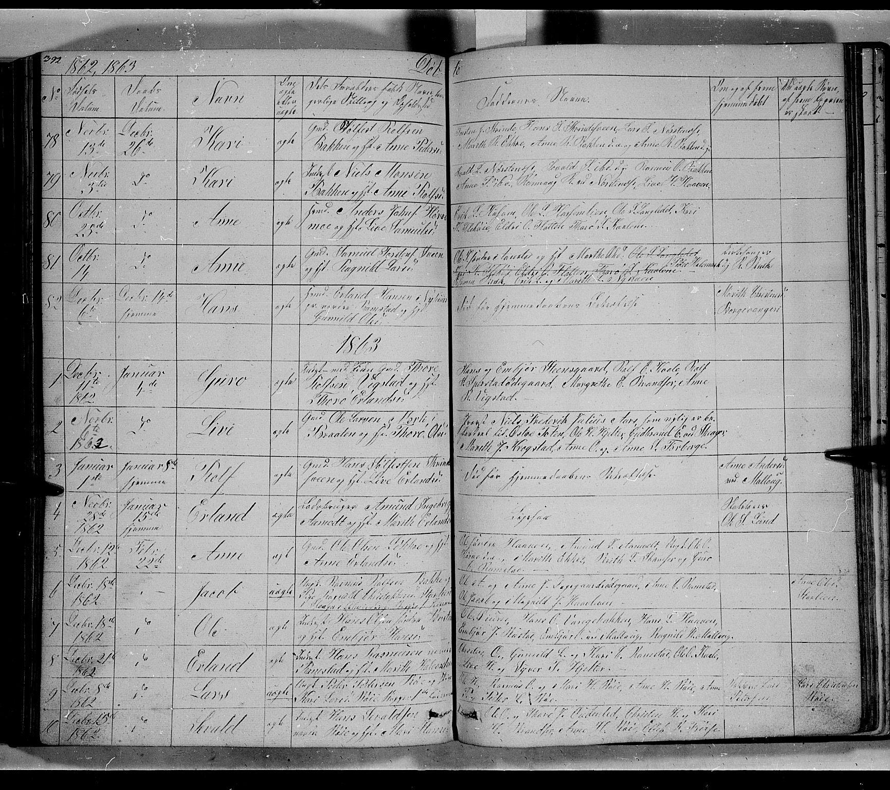 SAH, Lom prestekontor, L/L0004: Klokkerbok nr. 4, 1845-1864, s. 392-393