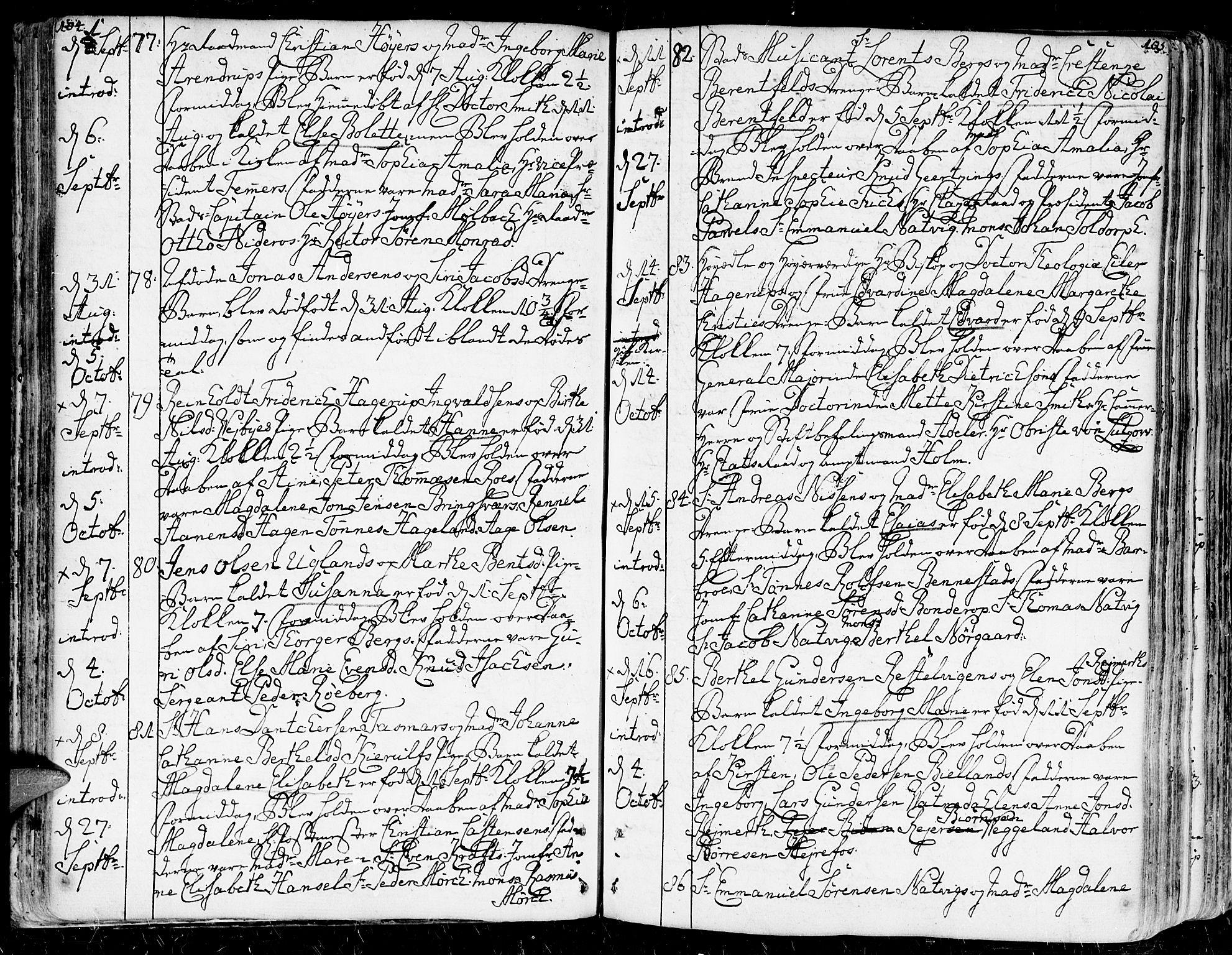 SAK, Kristiansand domprosti, F/Fa/L0003: Ministerialbok nr. A 3, 1778-1818, s. 104-105