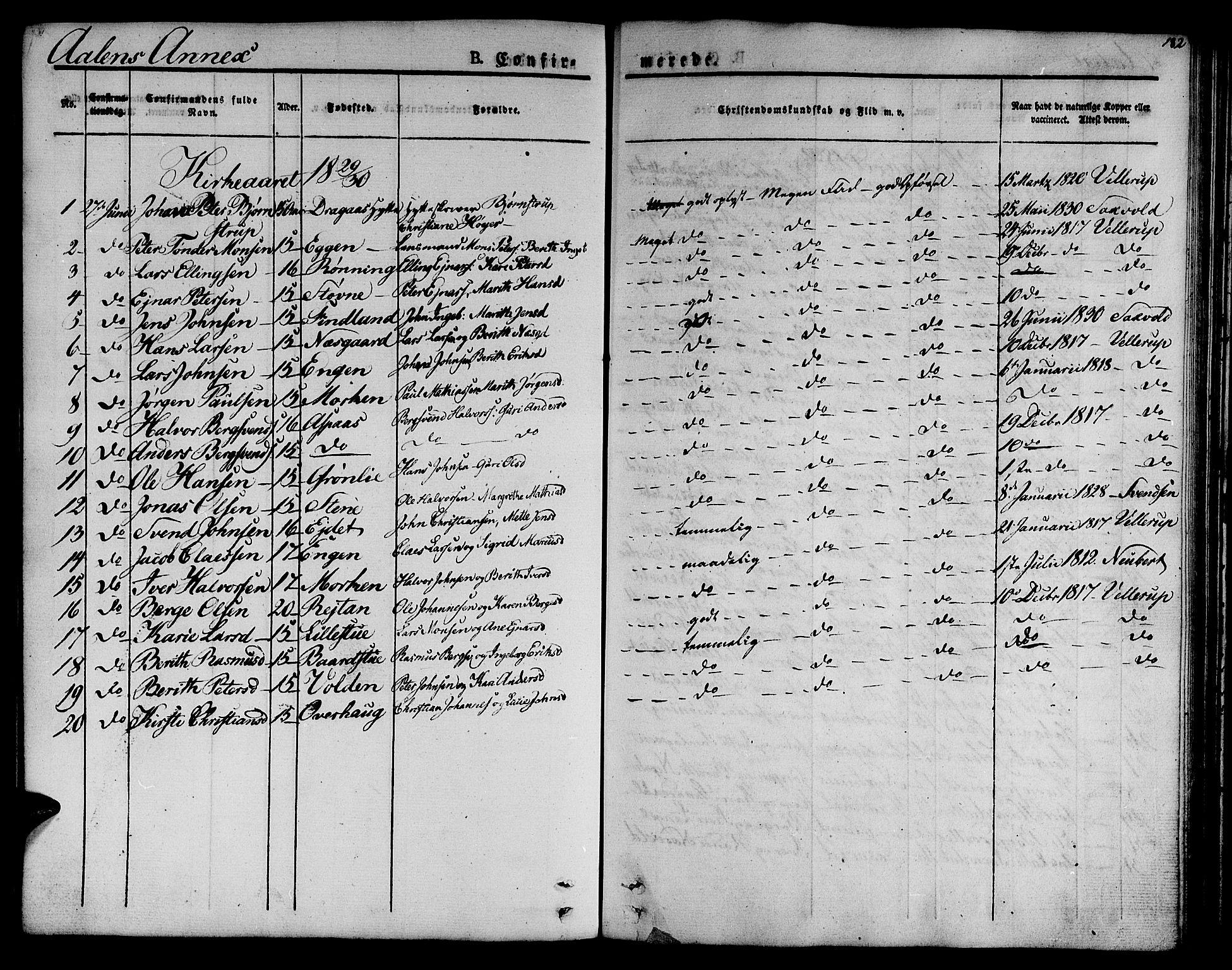 SAT, Ministerialprotokoller, klokkerbøker og fødselsregistre - Sør-Trøndelag, 685/L0959: Ministerialbok nr. 685A04 /3, 1829-1845, s. 182