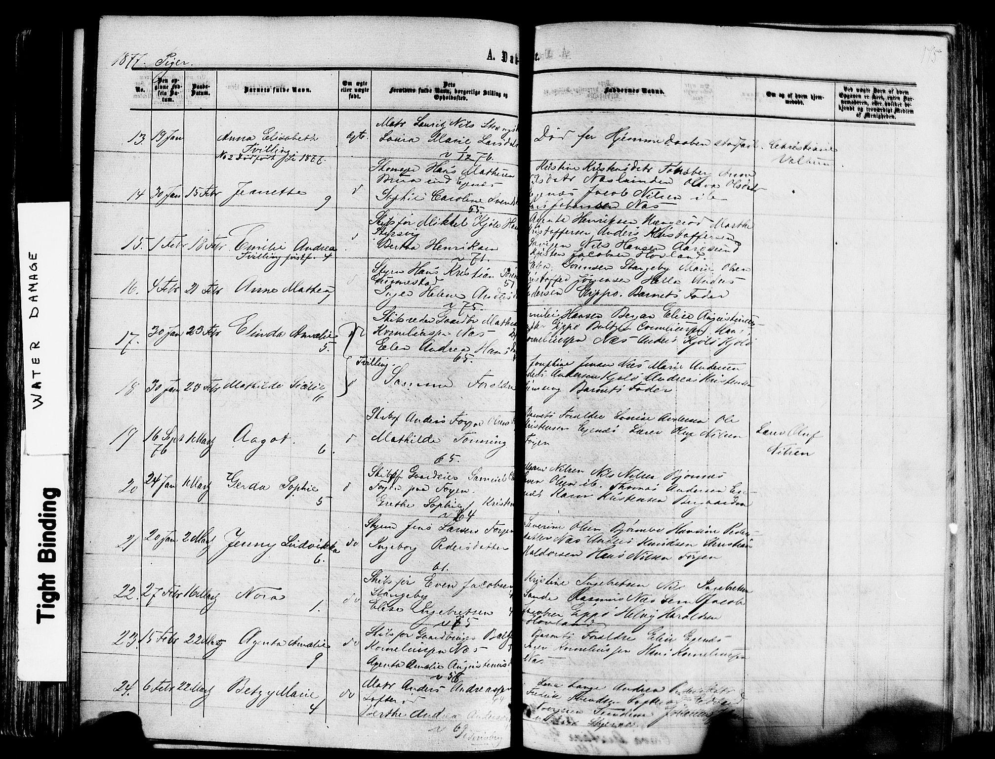 SAKO, Nøtterøy kirkebøker, F/Fa/L0007: Ministerialbok nr. I 7, 1865-1877, s. 175
