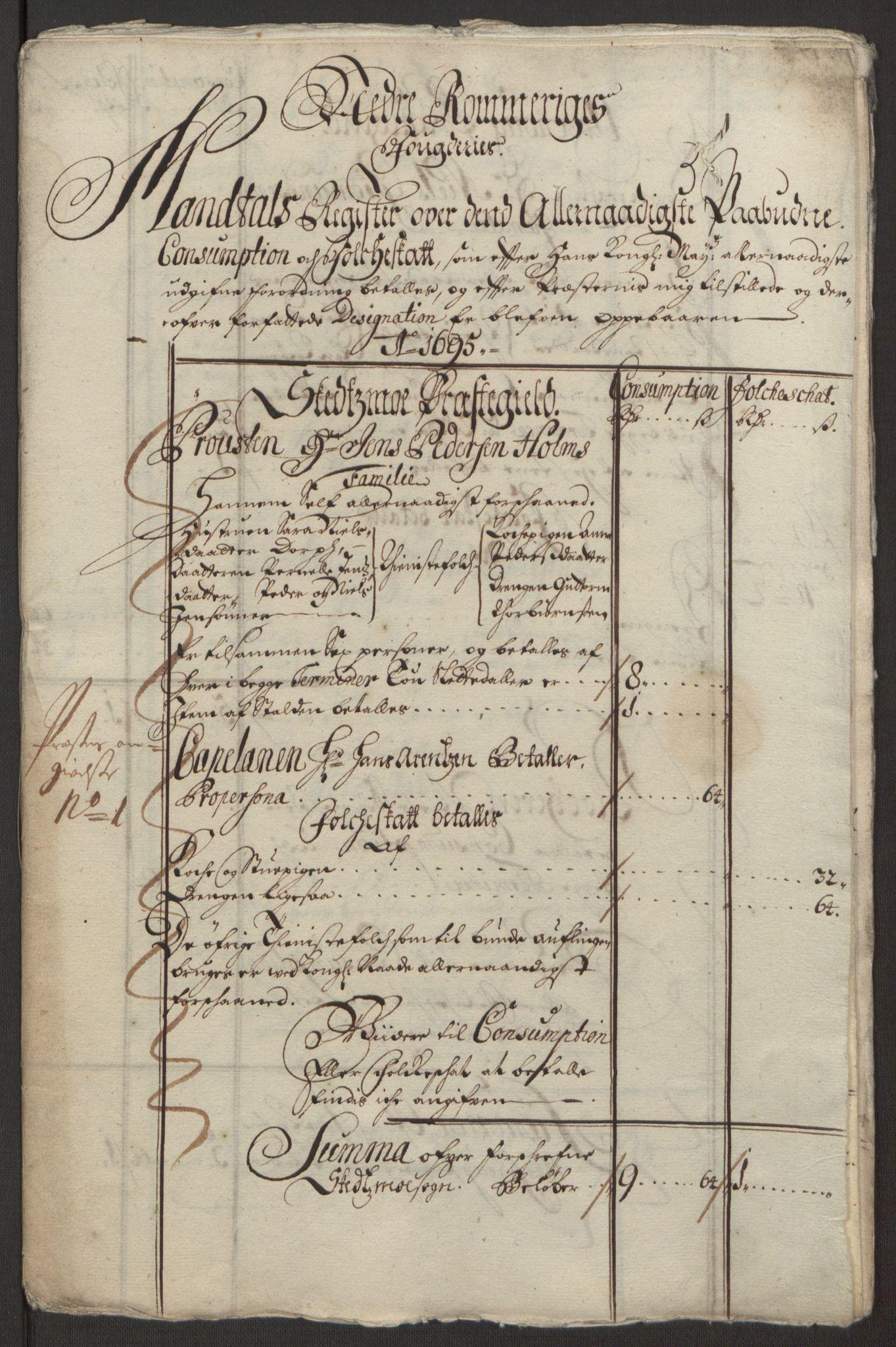 RA, Rentekammeret inntil 1814, Reviderte regnskaper, Fogderegnskap, R11/L0579: Fogderegnskap Nedre Romerike, 1694-1695, s. 407