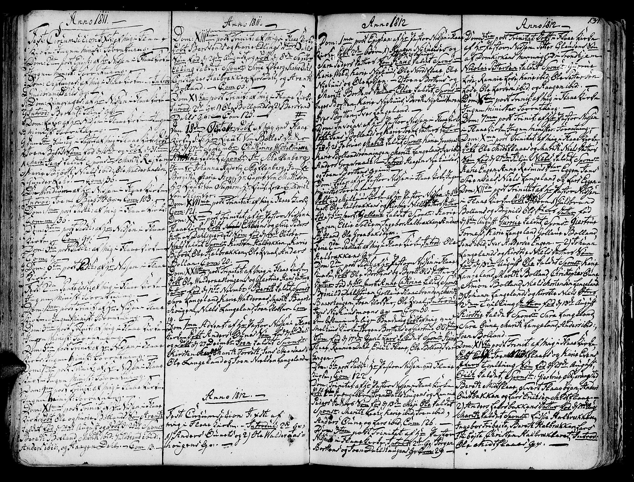 SAT, Ministerialprotokoller, klokkerbøker og fødselsregistre - Sør-Trøndelag, 691/L1062: Ministerialbok nr. 691A02 /2, 1768-1815, s. 134