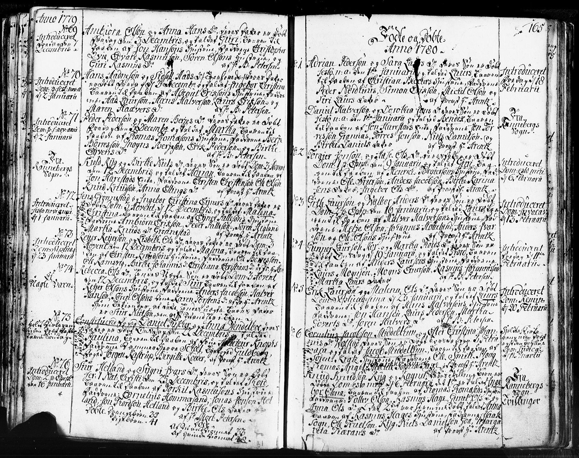 SAST, Domkirken sokneprestkontor, 30/30BB/L0004: Klokkerbok nr. B 4, 1752-1790, s. 165