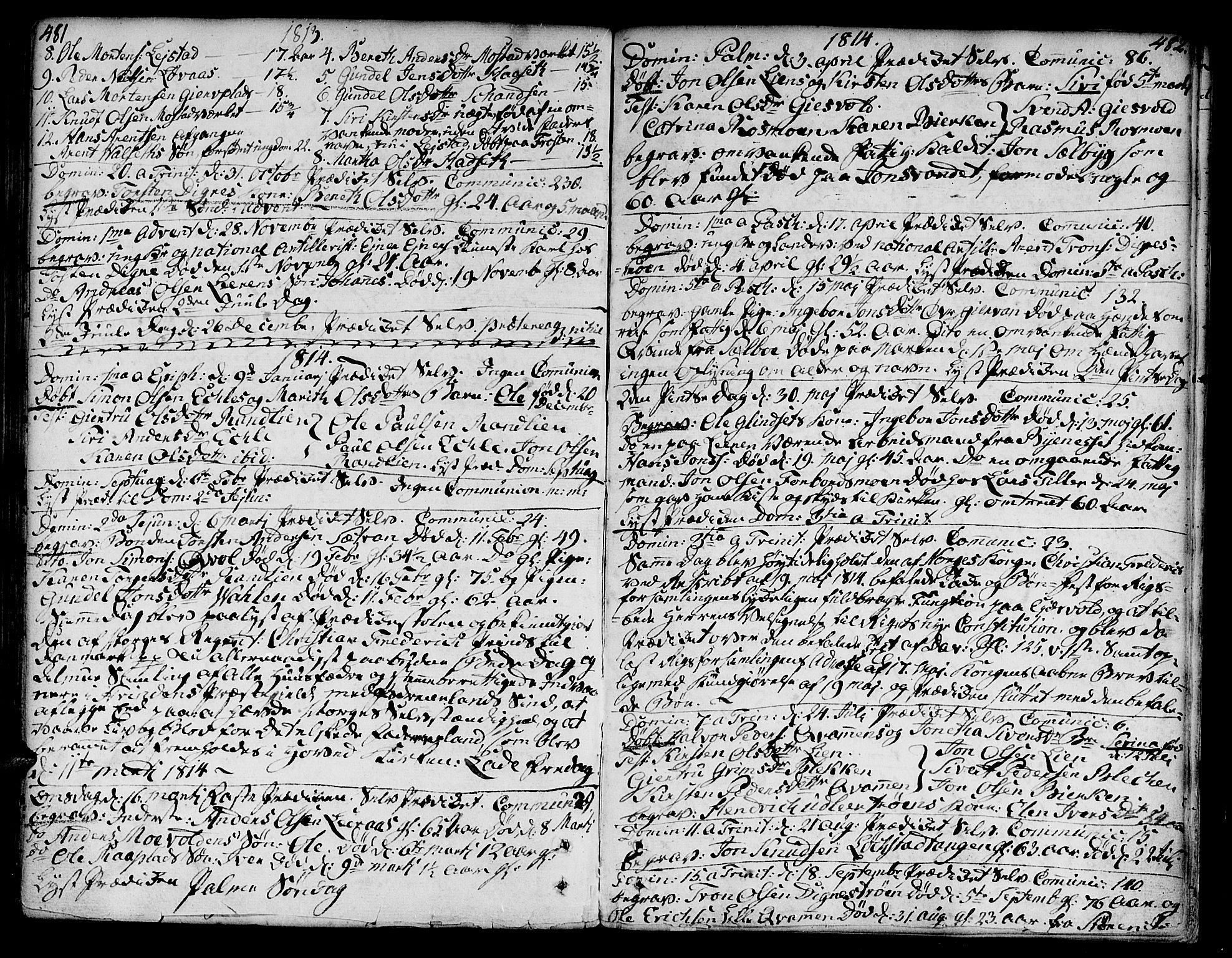 SAT, Ministerialprotokoller, klokkerbøker og fødselsregistre - Sør-Trøndelag, 606/L0282: Ministerialbok nr. 606A02 /3, 1781-1817, s. 481-482