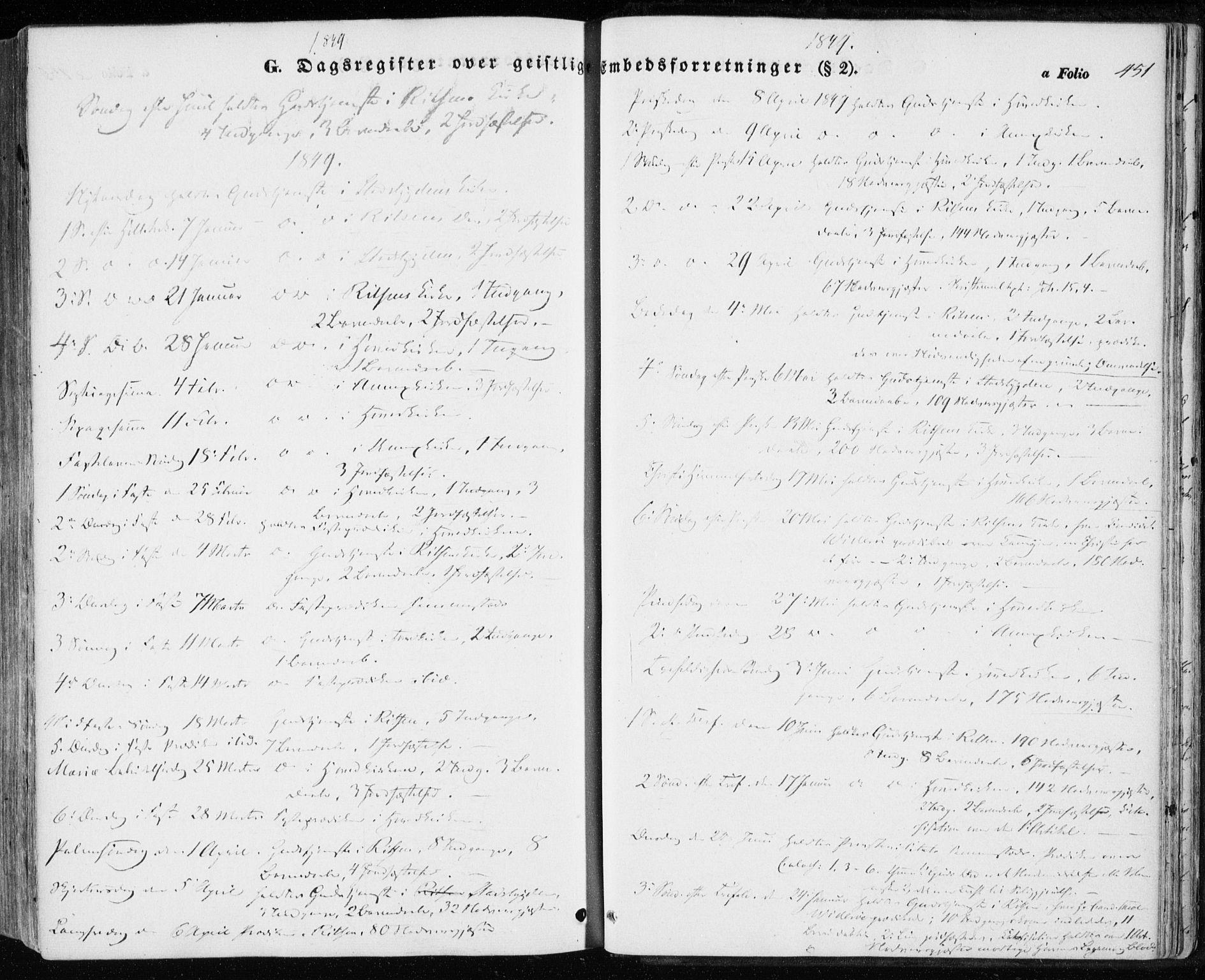 SAT, Ministerialprotokoller, klokkerbøker og fødselsregistre - Sør-Trøndelag, 646/L0611: Ministerialbok nr. 646A09, 1848-1857, s. 451