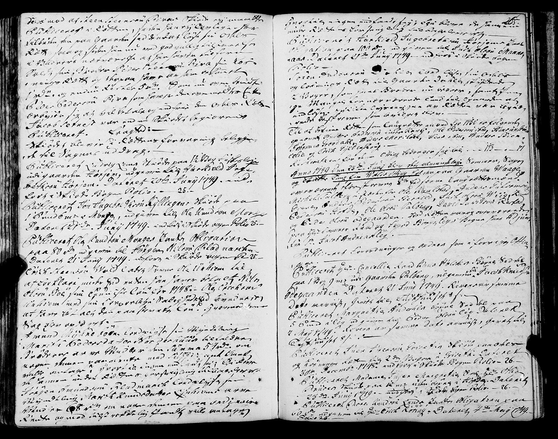 SAT, Romsdal sorenskriveri, 1/1A/L0012: Tingbok, 1740-1749, s. 265b-266a