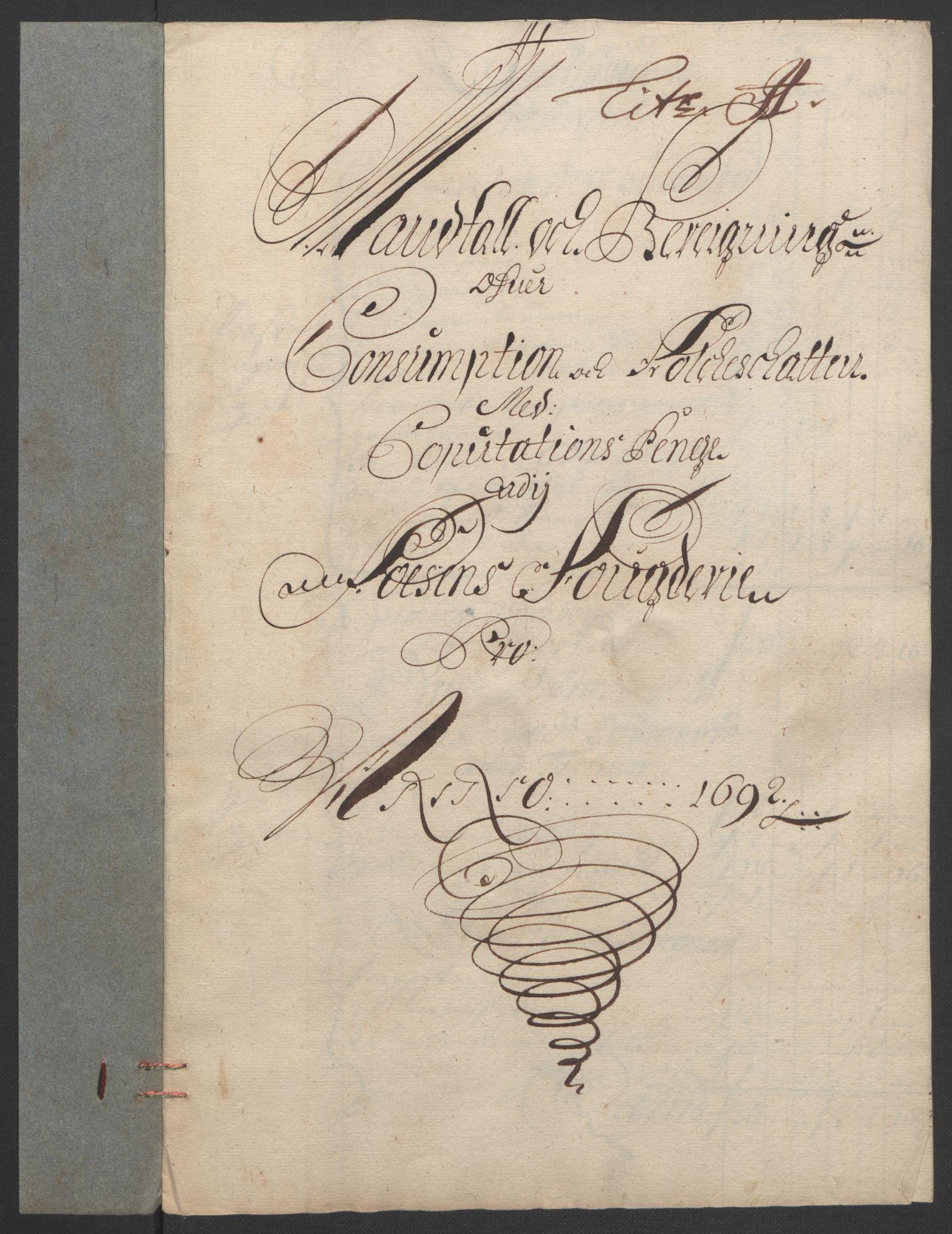 RA, Rentekammeret inntil 1814, Reviderte regnskaper, Fogderegnskap, R57/L3849: Fogderegnskap Fosen, 1692-1693, s. 127