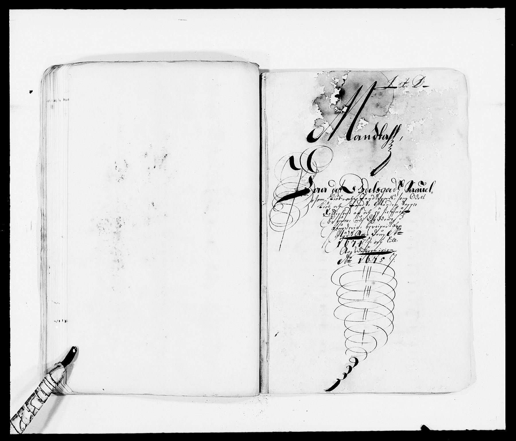 RA, Rentekammeret inntil 1814, Reviderte regnskaper, Fogderegnskap, R39/L2300: Fogderegnskap Nedenes, 1672-1674, s. 309