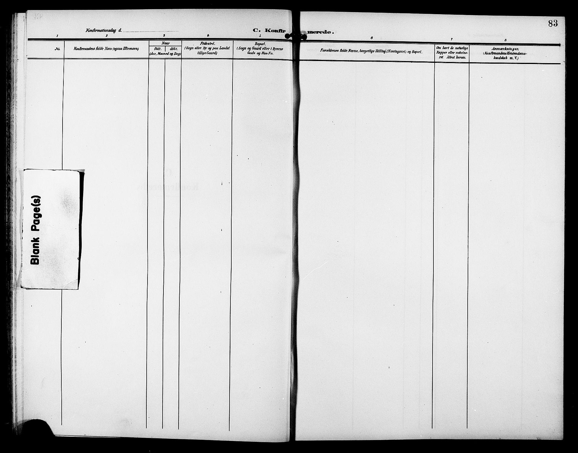 SAT, Ministerialprotokoller, klokkerbøker og fødselsregistre - Sør-Trøndelag, 633/L0520: Klokkerbok nr. 633C02, 1906-1921, s. 83