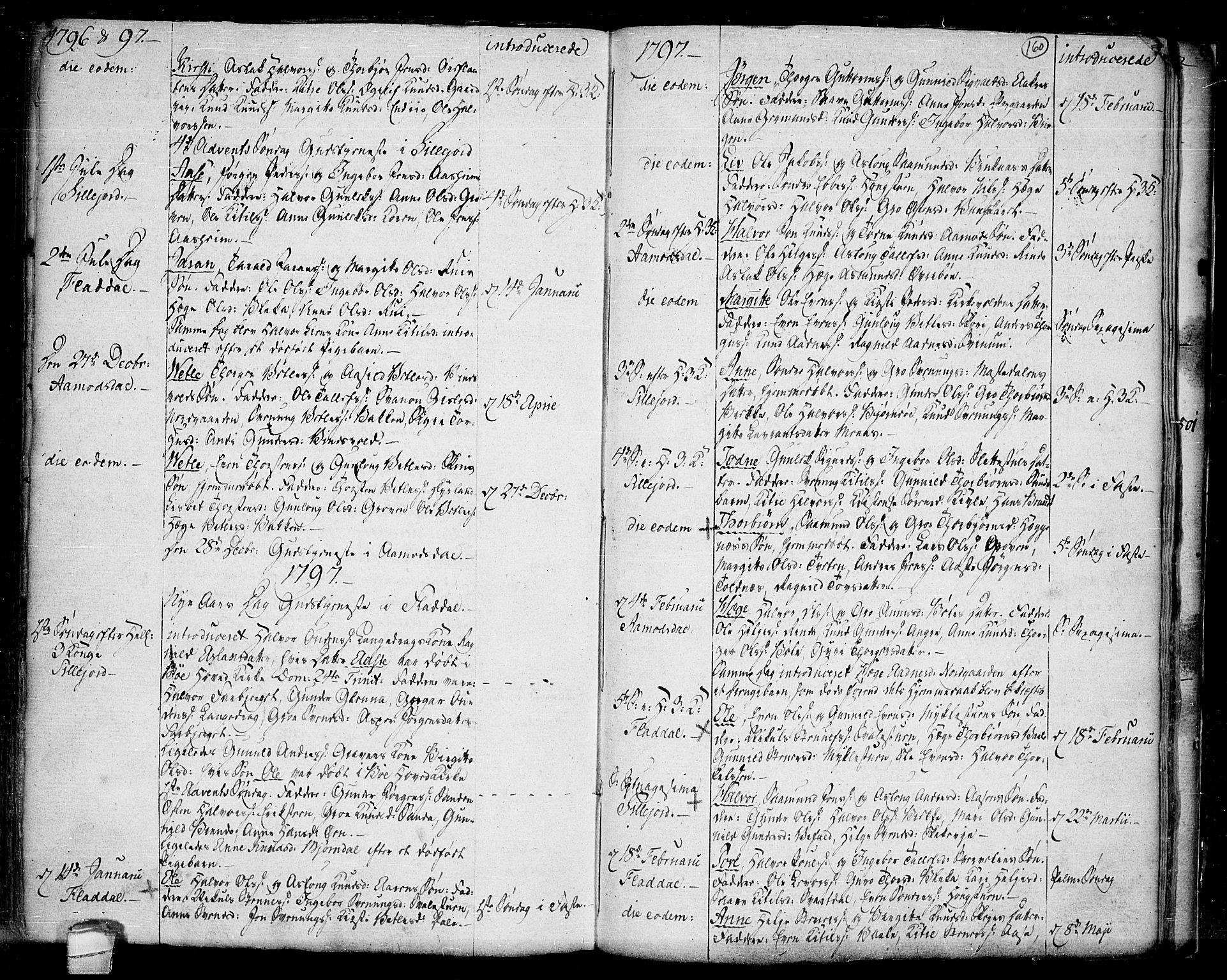 SAKO, Seljord kirkebøker, F/Fa/L0007: Ministerialbok nr. I 7, 1755-1800, s. 160