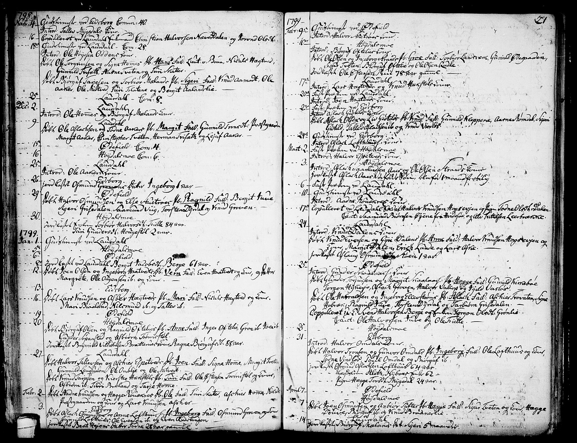 SAKO, Lårdal kirkebøker, F/Fa/L0004: Ministerialbok nr. I 4, 1790-1814, s. 21