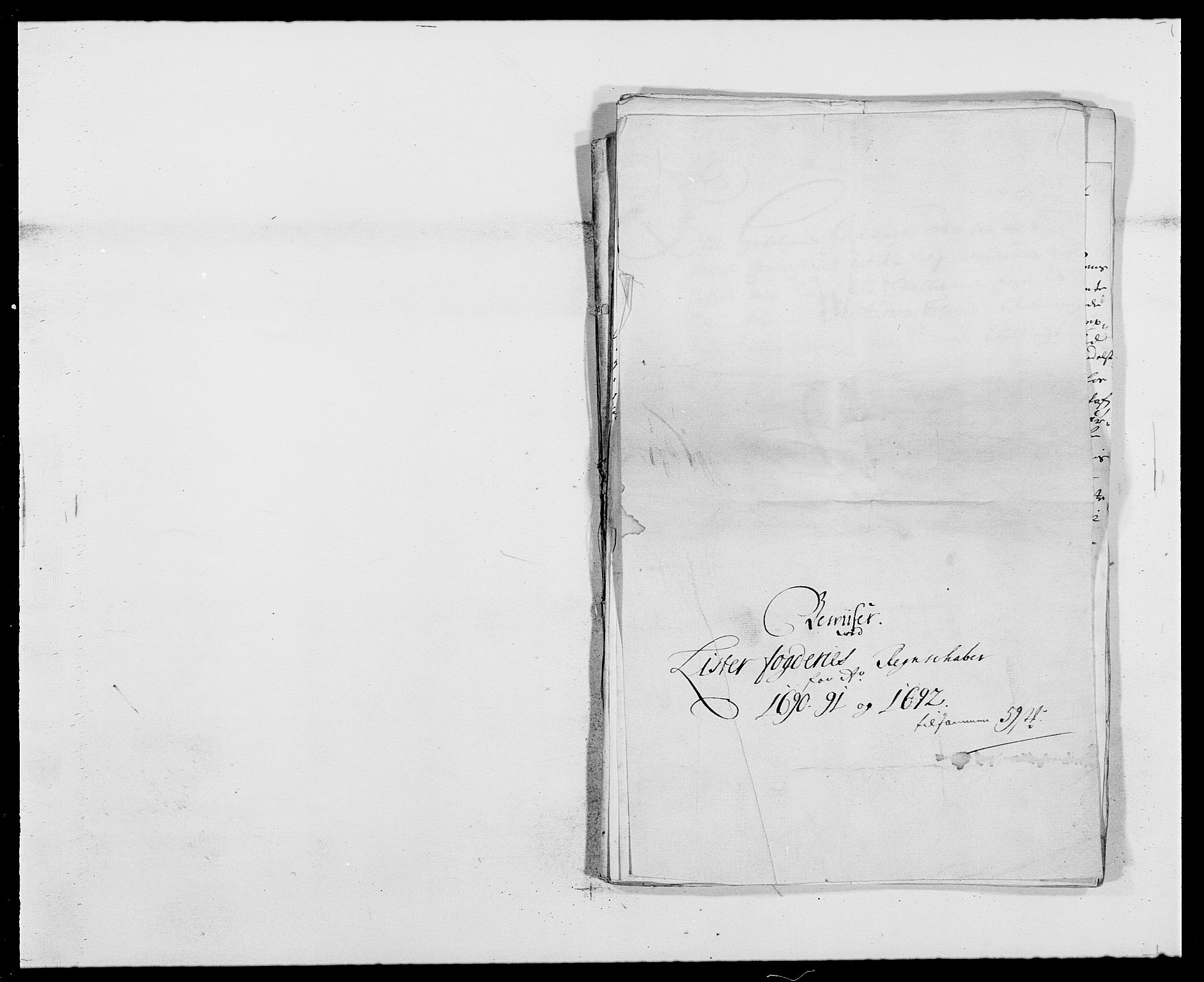 RA, Rentekammeret inntil 1814, Reviderte regnskaper, Fogderegnskap, R41/L2536: Fogderegnskap Lista, 1690-1693, s. 64