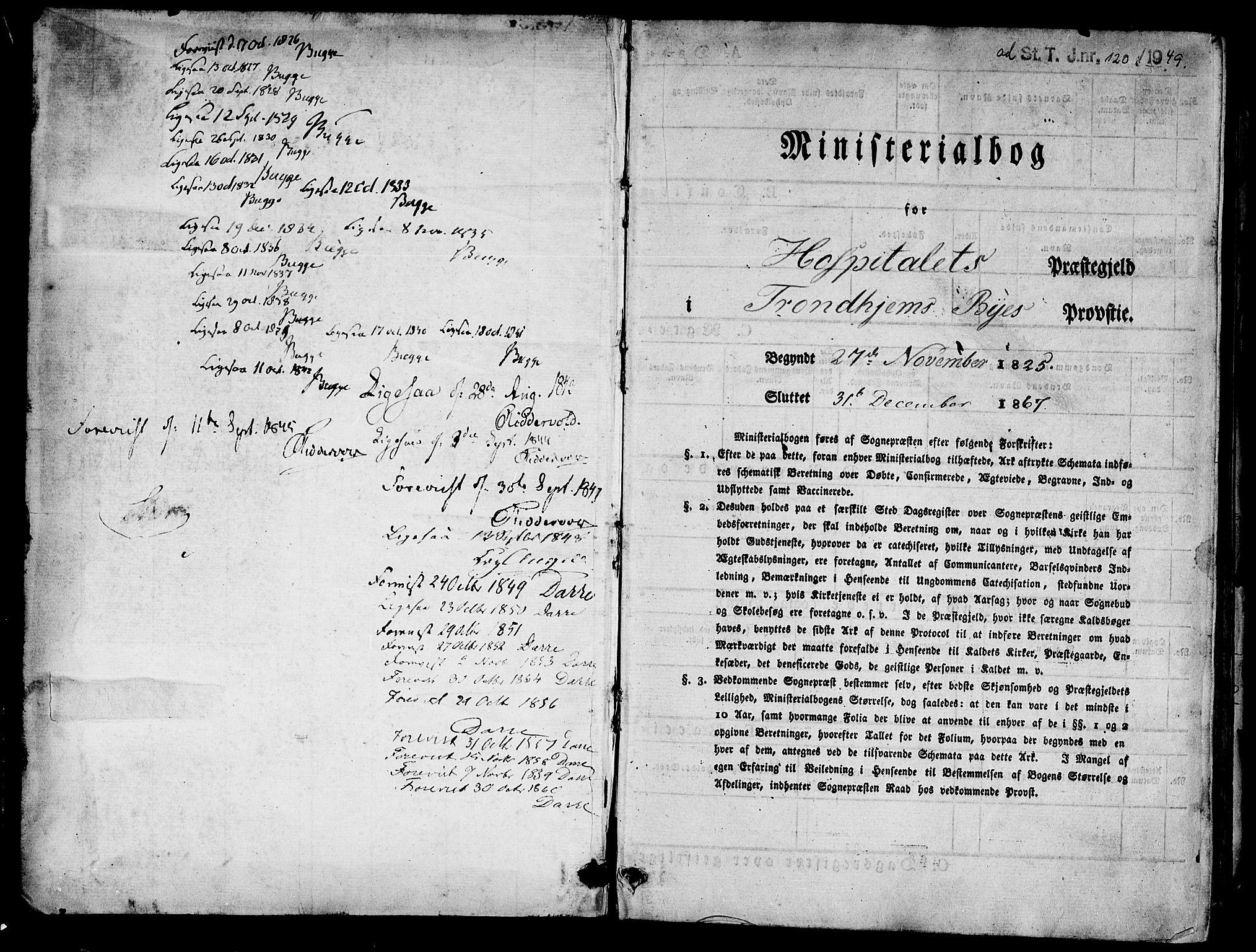 SAT, Ministerialprotokoller, klokkerbøker og fødselsregistre - Sør-Trøndelag, 623/L0468: Ministerialbok nr. 623A02, 1826-1867