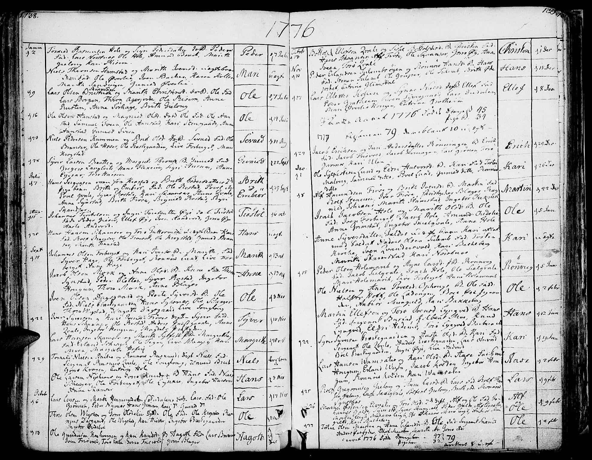 SAH, Lom prestekontor, K/L0002: Ministerialbok nr. 2, 1749-1801, s. 138-139