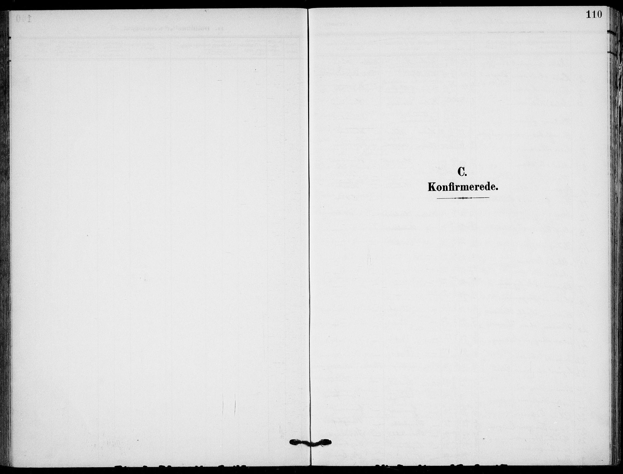 SAKO, Holla kirkebøker, F/Fa/L0012: Ministerialbok nr. 12, 1907-1923, s. 110