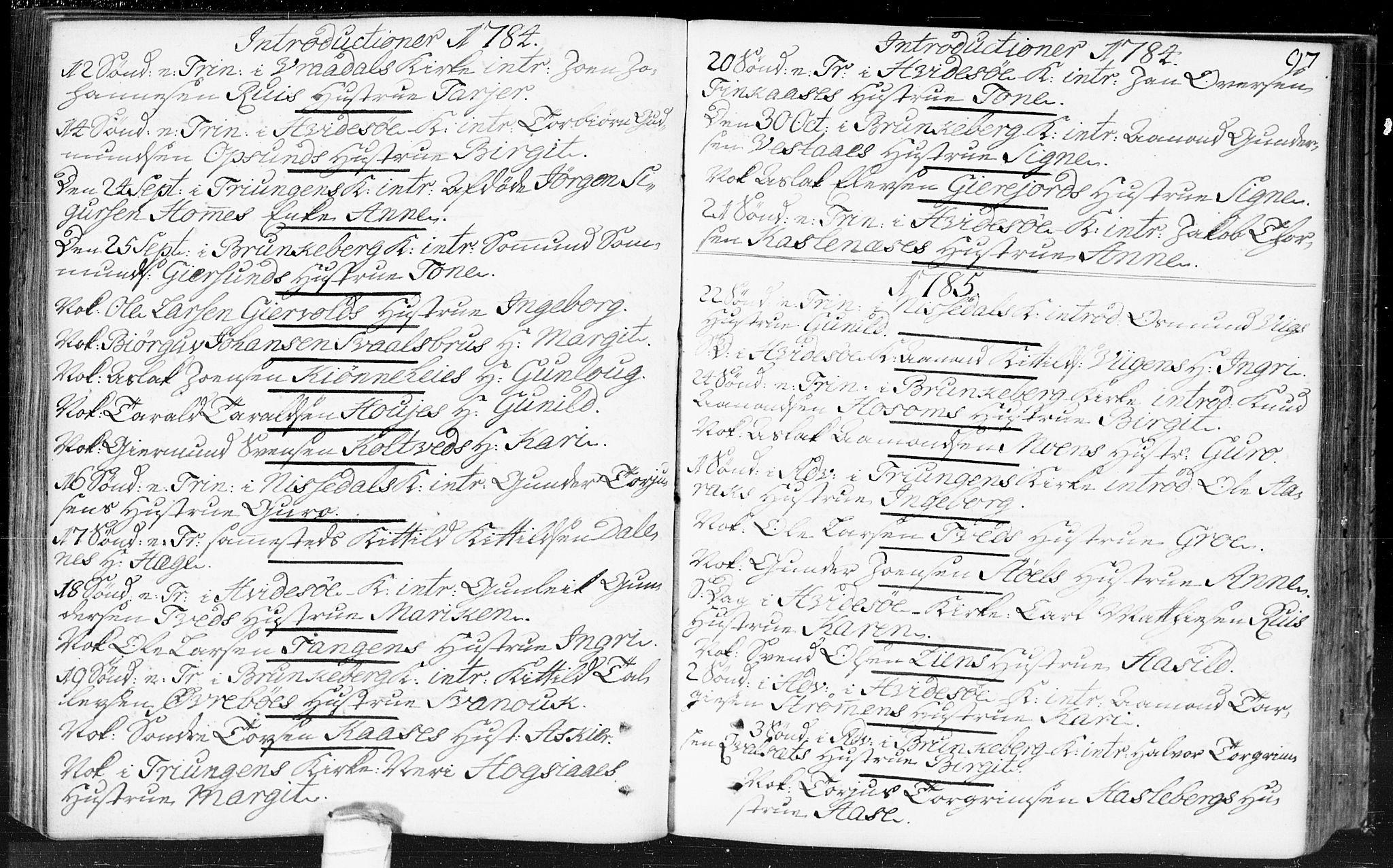 SAKO, Kviteseid kirkebøker, F/Fa/L0002: Ministerialbok nr. I 2, 1773-1786, s. 97