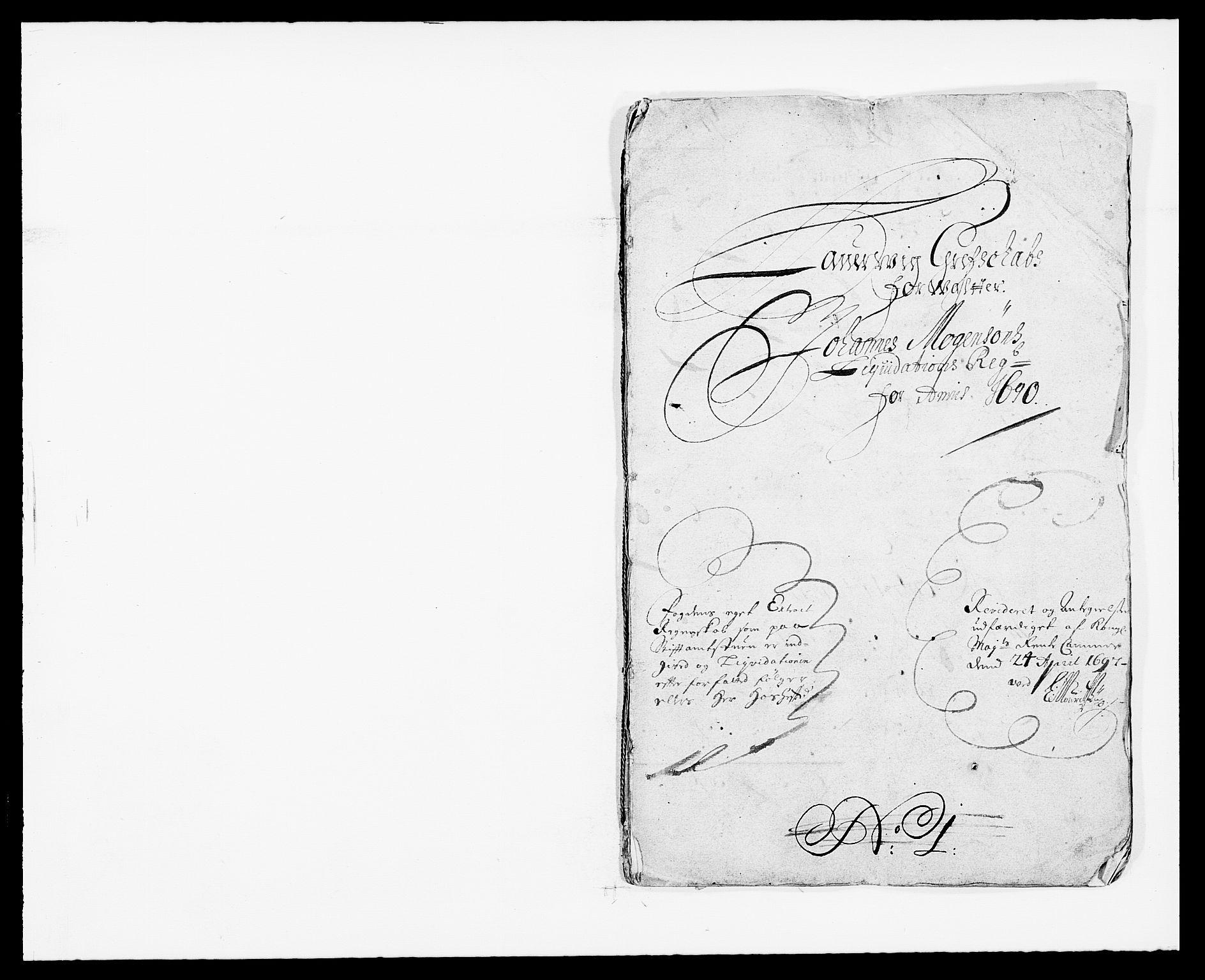 RA, Rentekammeret inntil 1814, Reviderte regnskaper, Fogderegnskap, R33/L1972: Fogderegnskap Larvik grevskap, 1690-1691, s. 1