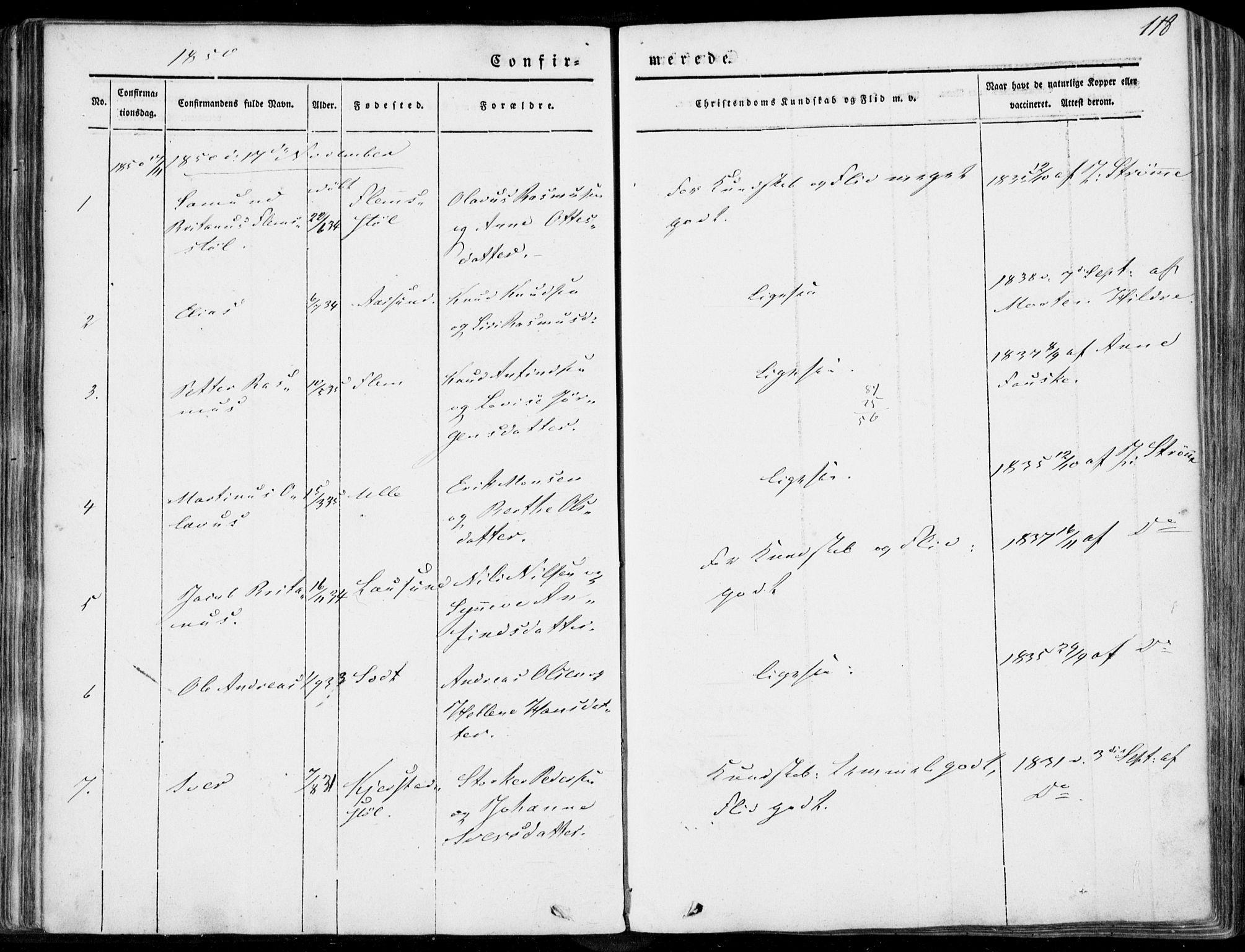 SAT, Ministerialprotokoller, klokkerbøker og fødselsregistre - Møre og Romsdal, 536/L0497: Ministerialbok nr. 536A06, 1845-1865, s. 118