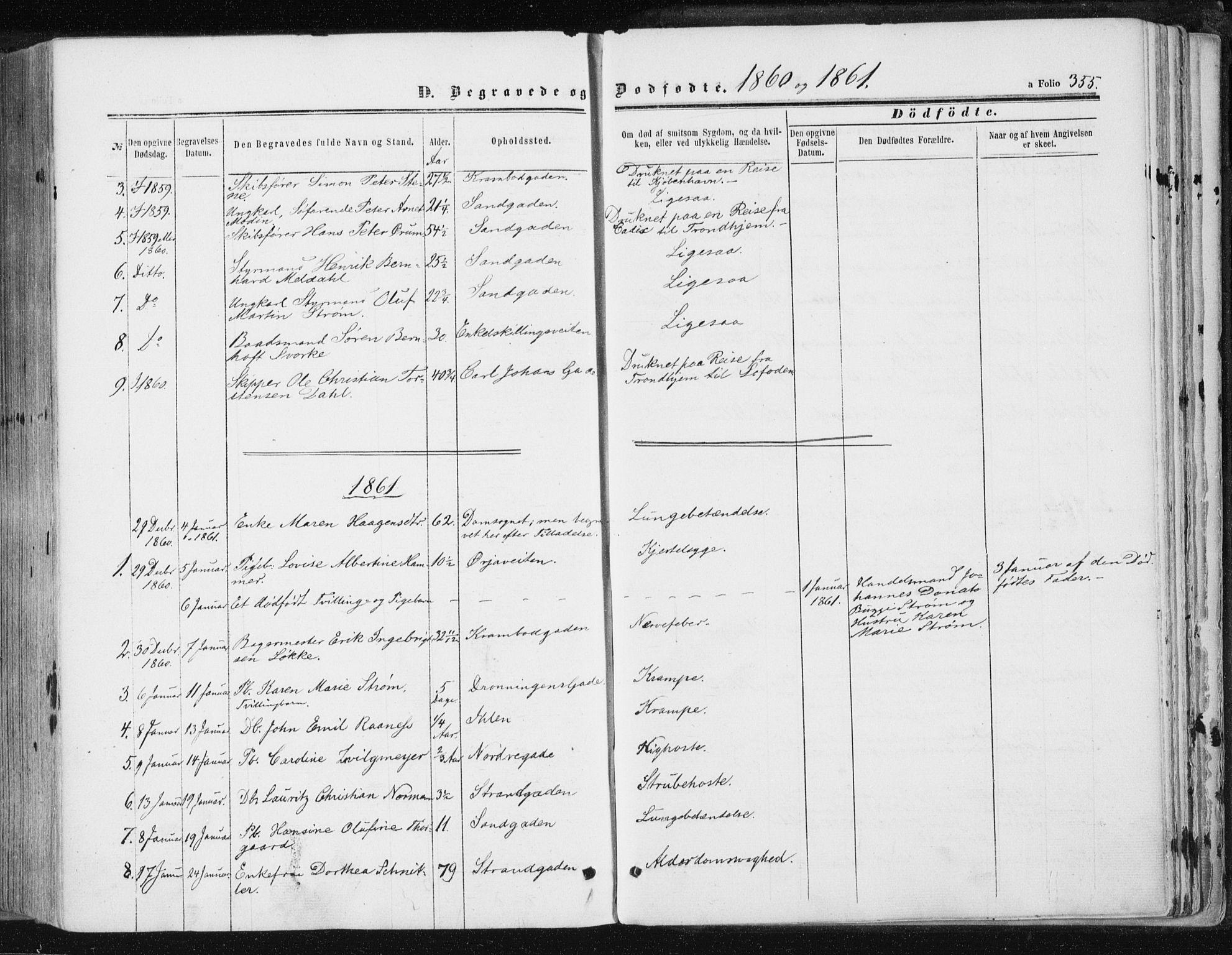 SAT, Ministerialprotokoller, klokkerbøker og fødselsregistre - Sør-Trøndelag, 602/L0115: Ministerialbok nr. 602A13, 1860-1872, s. 355