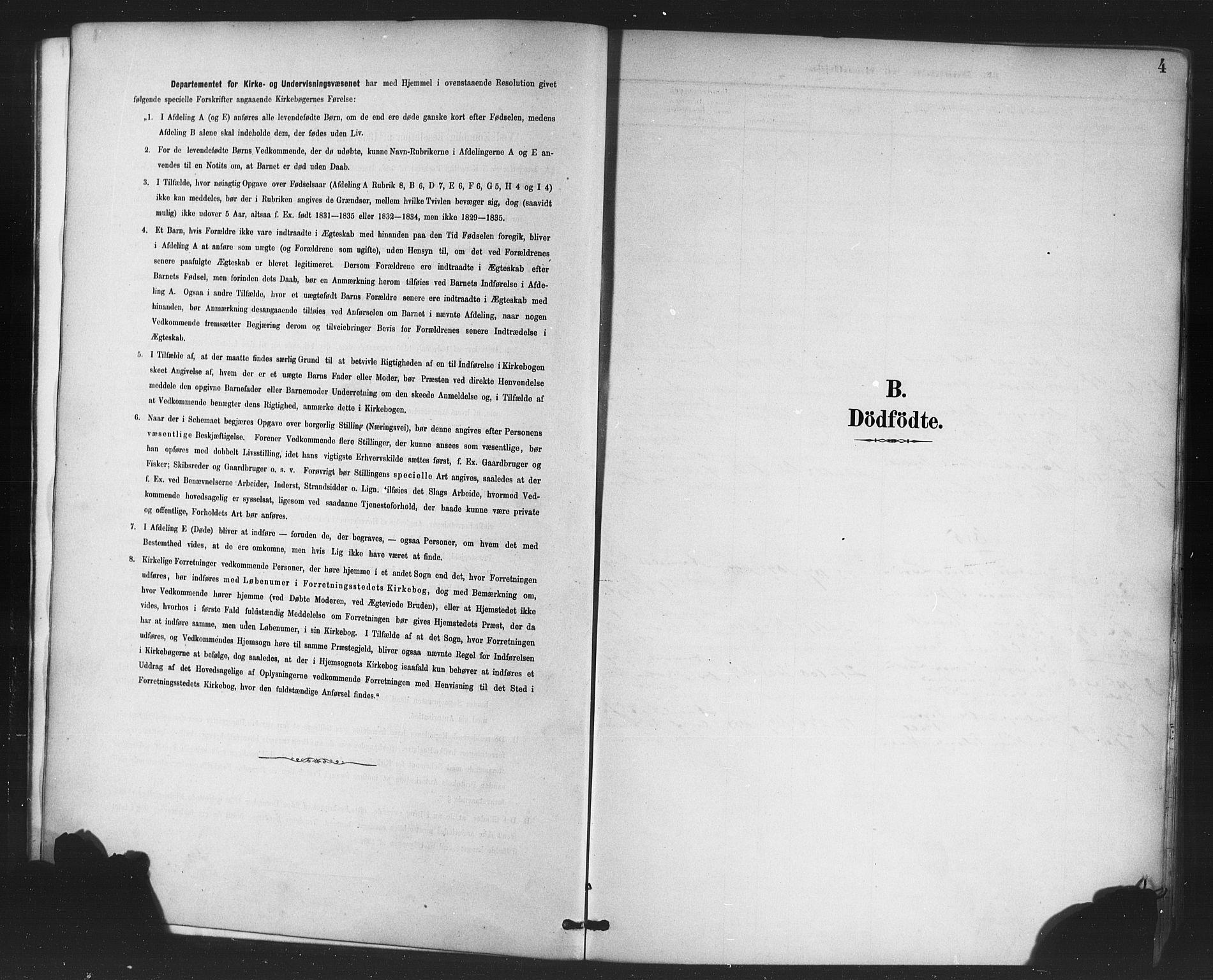 SAB, Korskirken Sokneprestembete, H/Haa/L0047: Ministerialbok nr. E 5, 1884-1910, s. 4