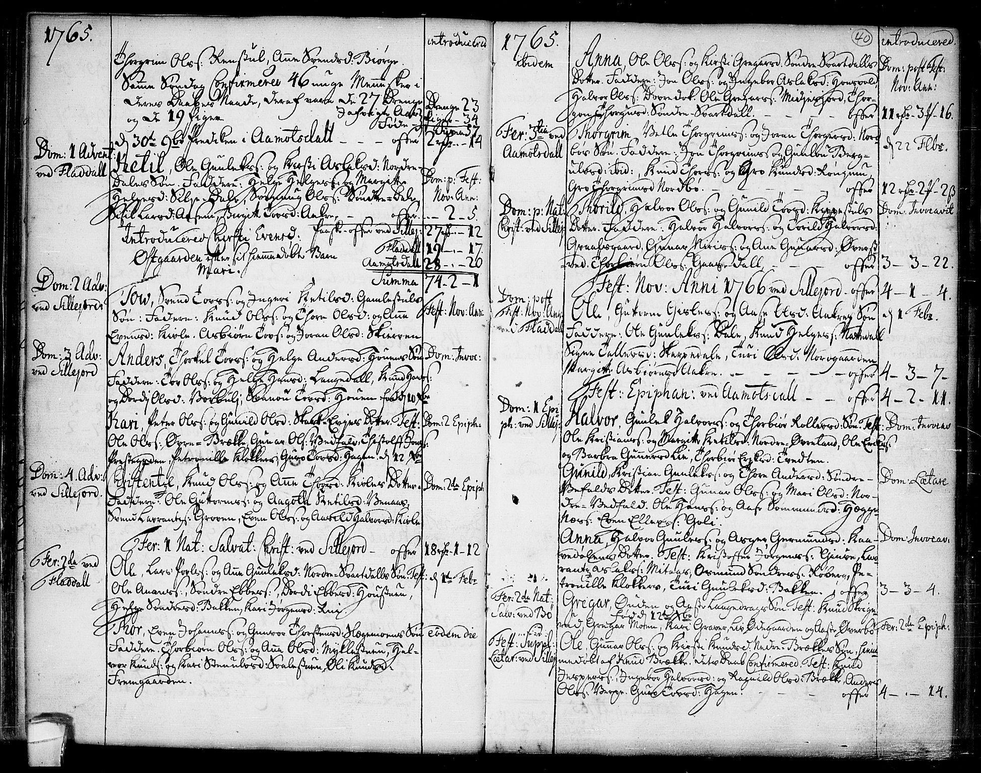 SAKO, Seljord kirkebøker, F/Fa/L0007: Ministerialbok nr. I 7, 1755-1800, s. 40