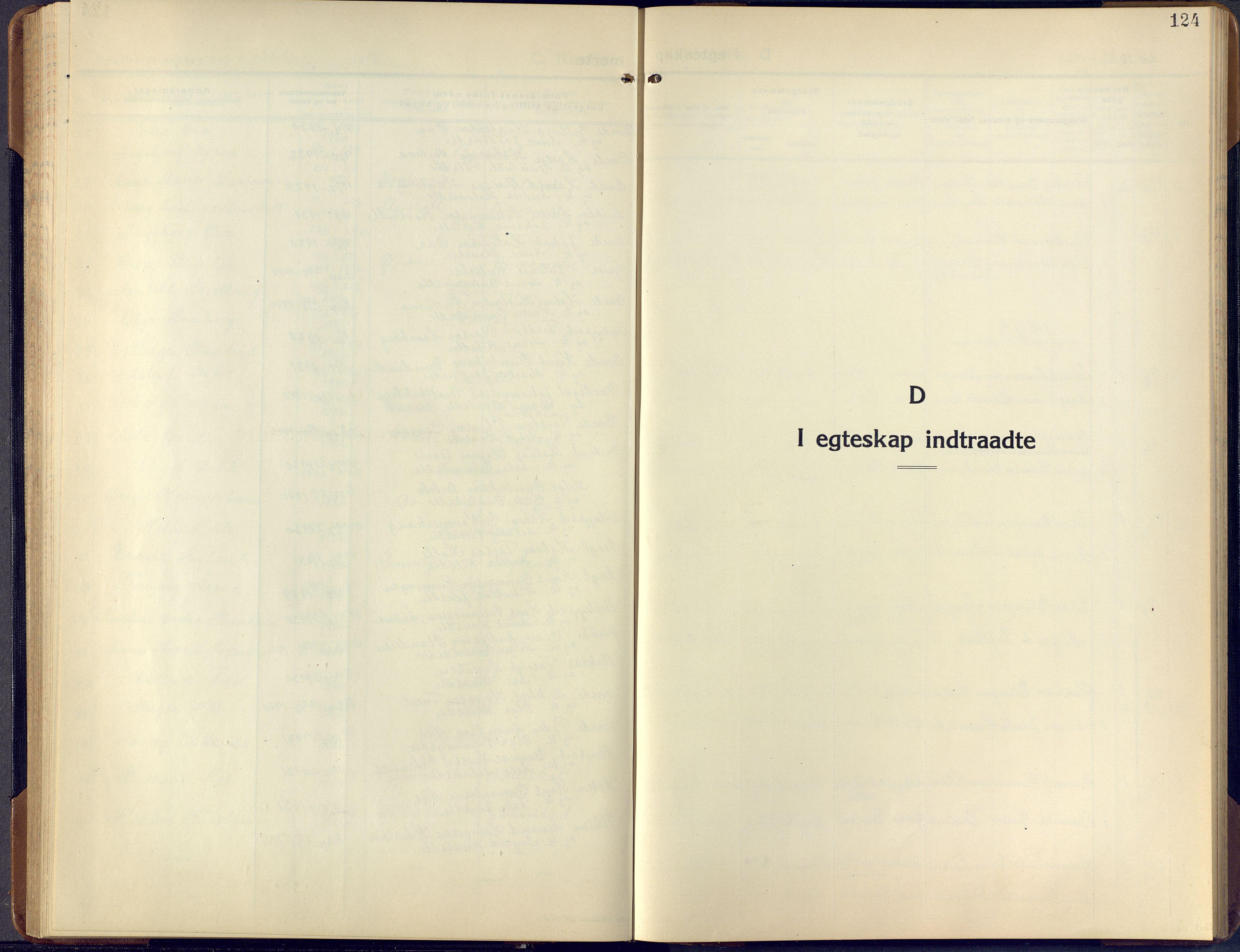 SAKO, Lunde kirkebøker, F/Fa/L0006: Ministerialbok nr. I 6, 1922-1940, s. 124