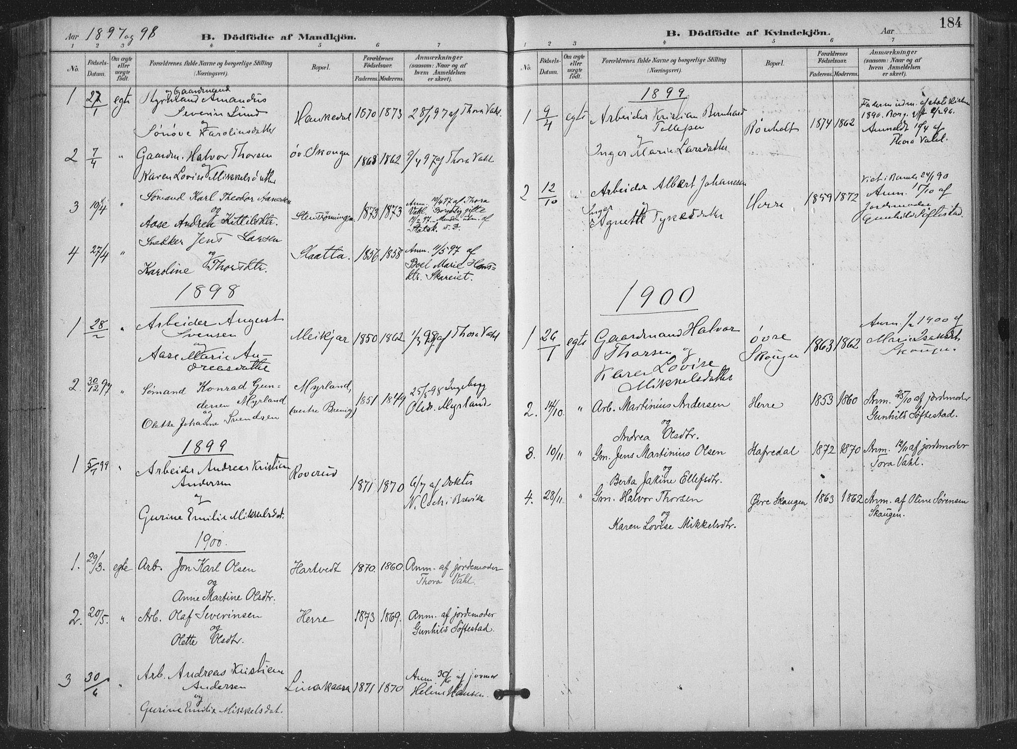 SAKO, Bamble kirkebøker, F/Fa/L0008: Ministerialbok nr. I 8, 1888-1900, s. 184