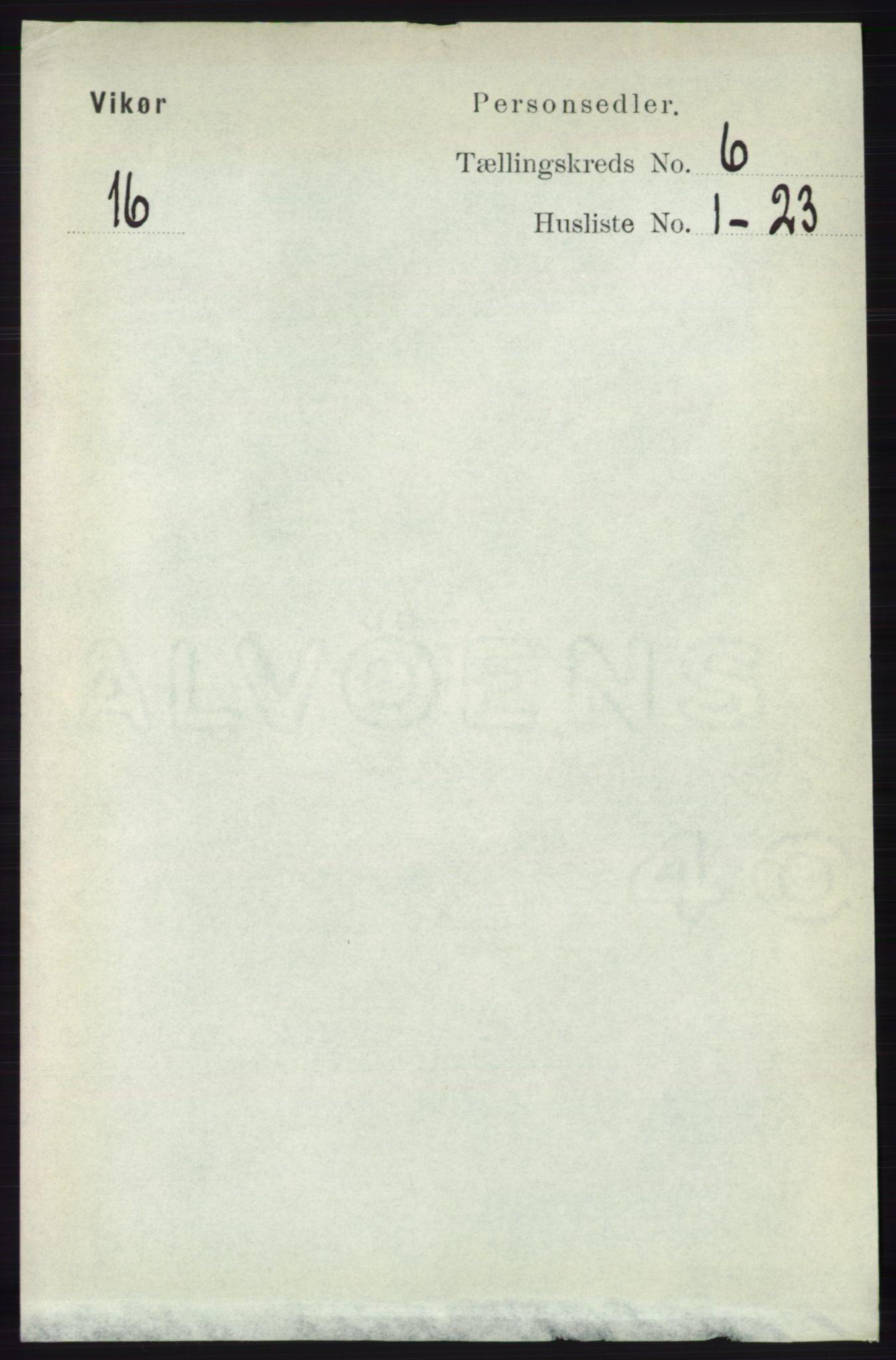 RA, Folketelling 1891 for 1238 Vikør herred, 1891, s. 1811