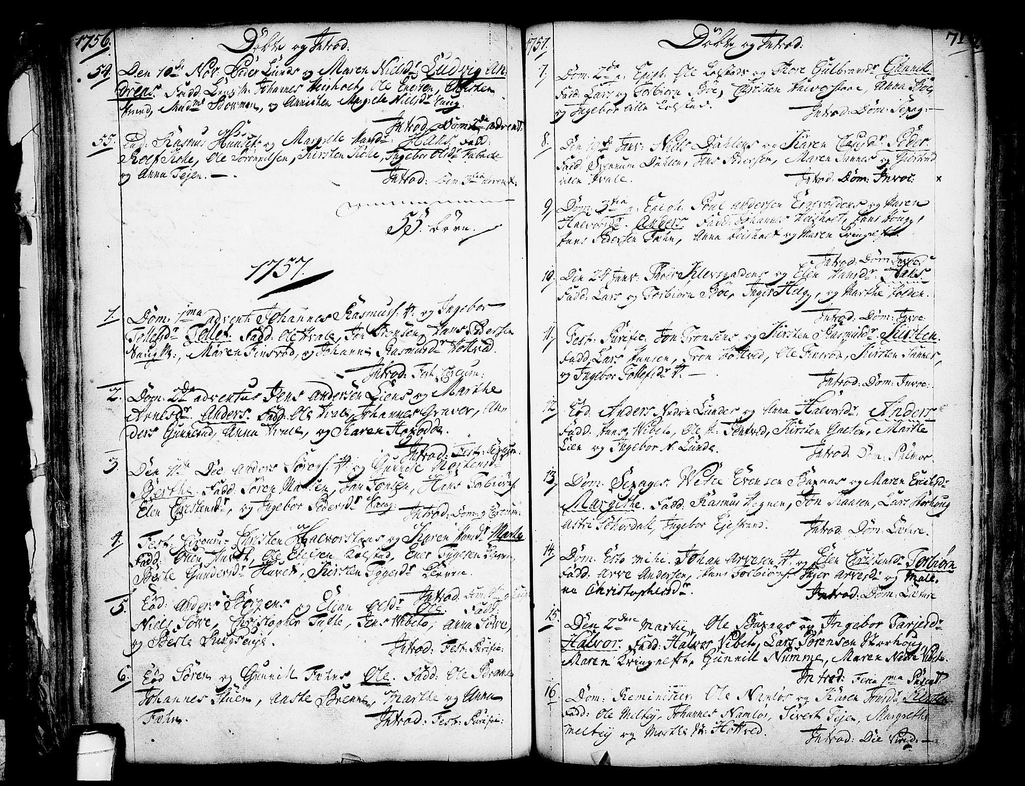 SAKO, Holla kirkebøker, F/Fa/L0001: Ministerialbok nr. 1, 1717-1779, s. 71