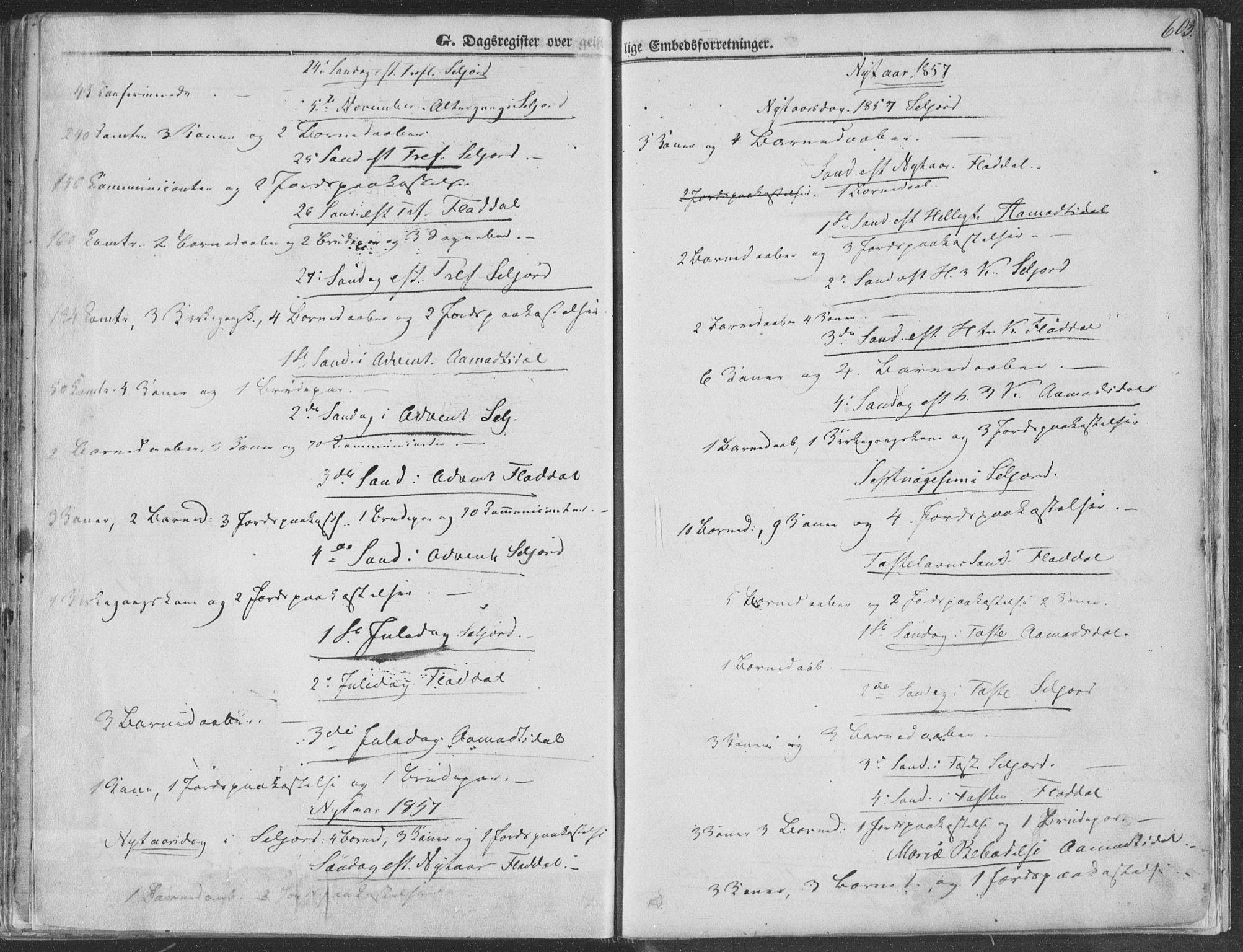 SAKO, Seljord kirkebøker, F/Fa/L012b: Ministerialbok nr. I 12B, 1850-1865, s. 603