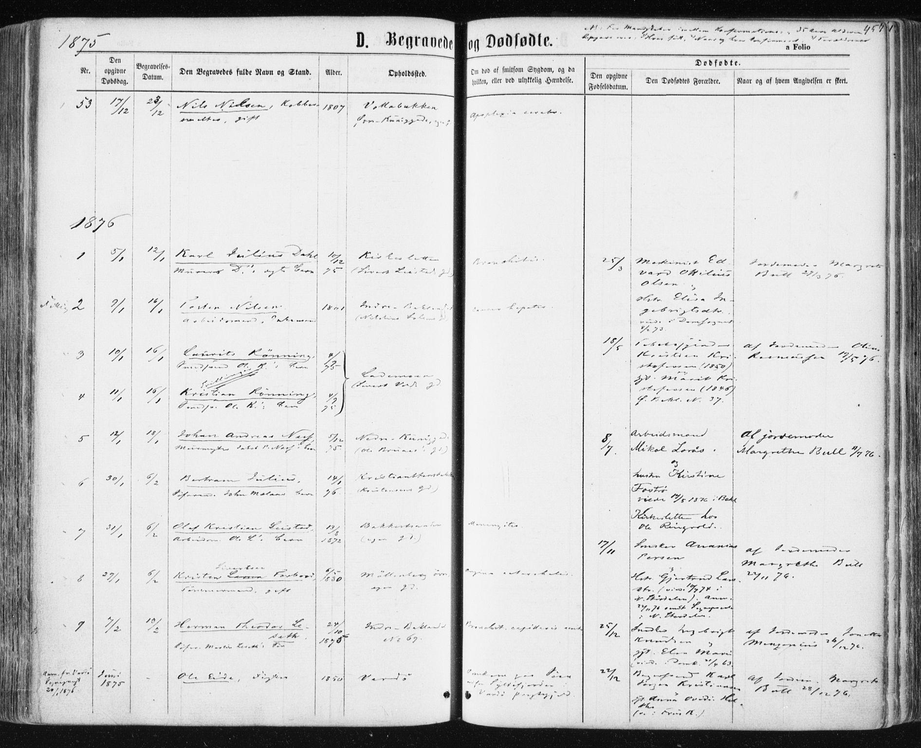 SAT, Ministerialprotokoller, klokkerbøker og fødselsregistre - Sør-Trøndelag, 604/L0186: Ministerialbok nr. 604A07, 1866-1877, s. 457