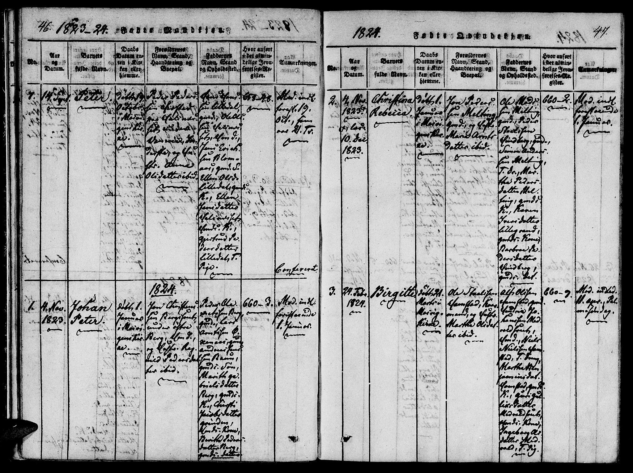 SAT, Ministerialprotokoller, klokkerbøker og fødselsregistre - Nord-Trøndelag, 733/L0322: Ministerialbok nr. 733A01, 1817-1842, s. 46-47