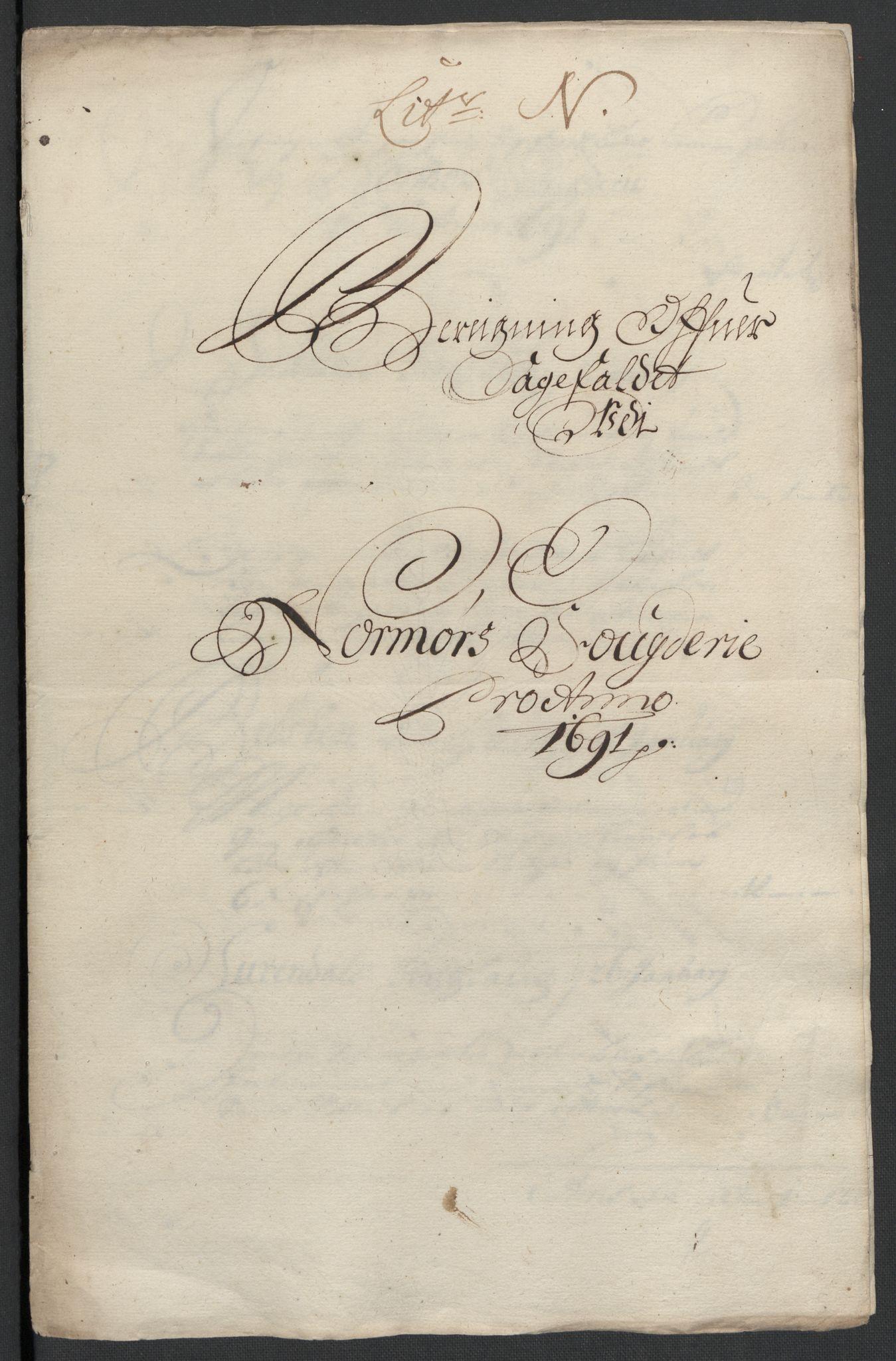 RA, Rentekammeret inntil 1814, Reviderte regnskaper, Fogderegnskap, R56/L3734: Fogderegnskap Nordmøre, 1690-1691, s. 395