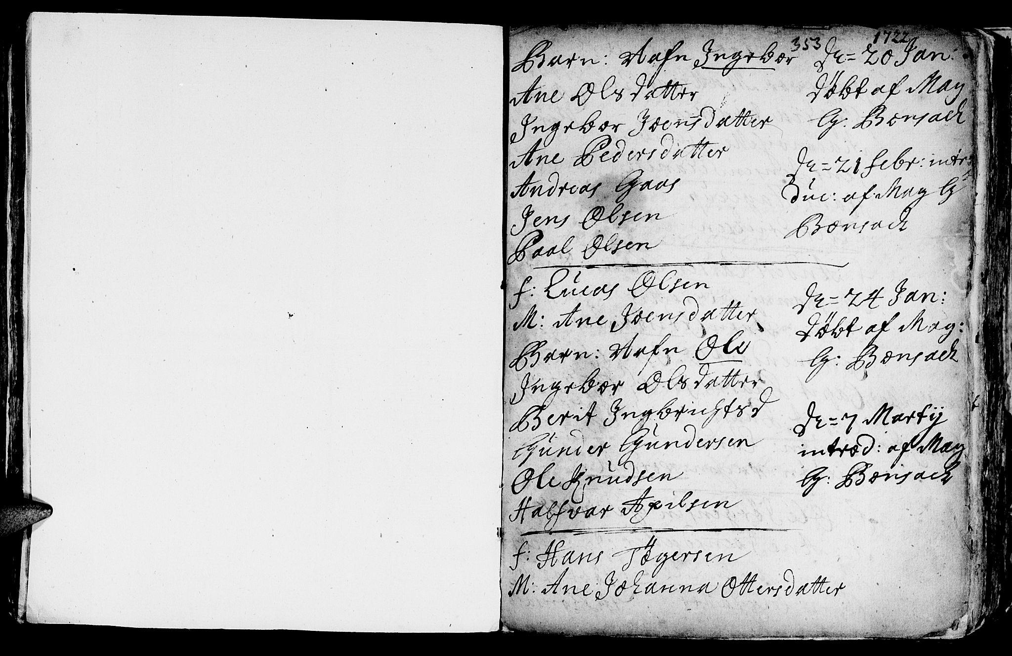 SAT, Ministerialprotokoller, klokkerbøker og fødselsregistre - Sør-Trøndelag, 601/L0035: Ministerialbok nr. 601A03, 1713-1728, s. 353
