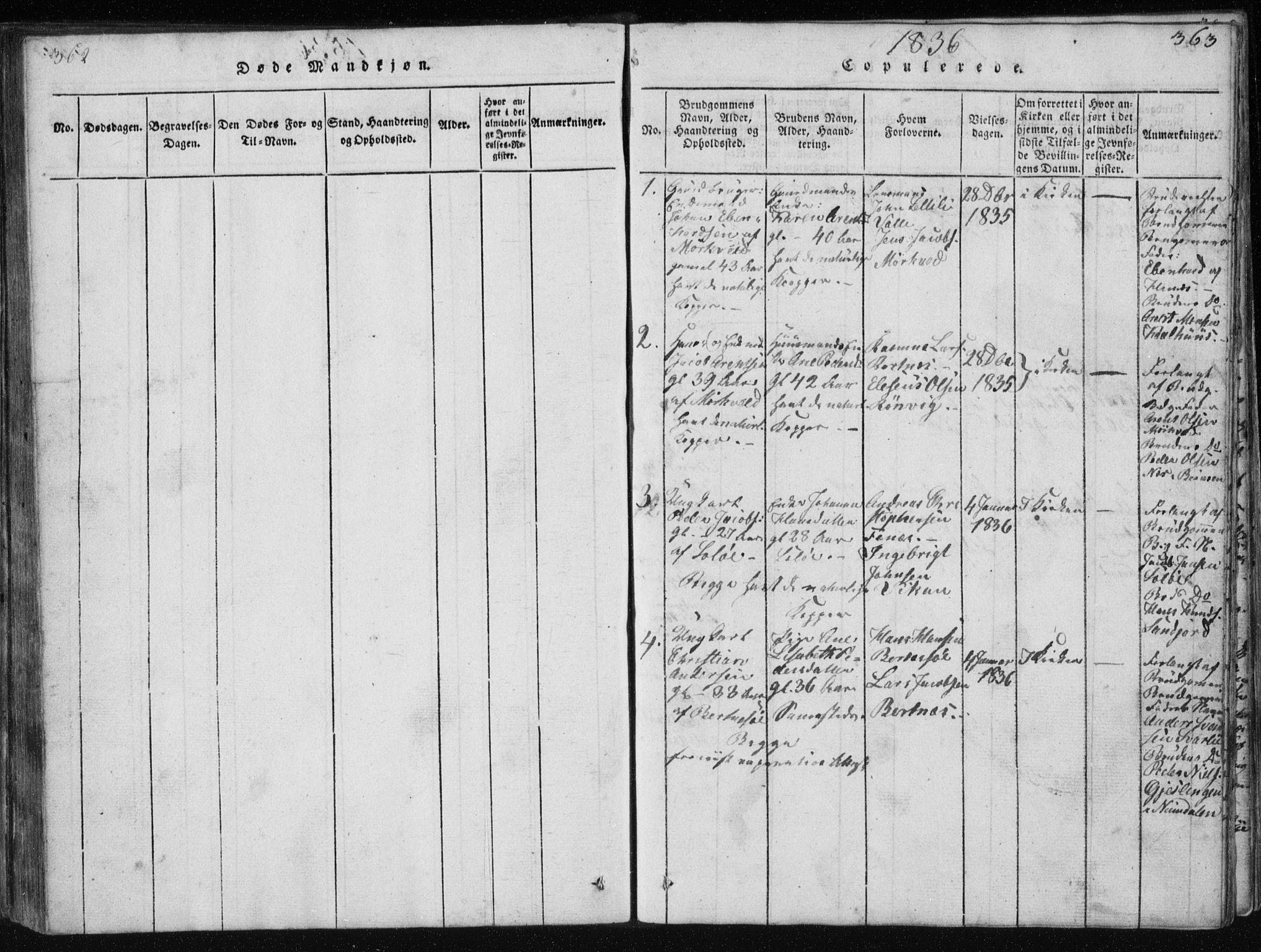 SAT, Ministerialprotokoller, klokkerbøker og fødselsregistre - Nordland, 801/L0027: Klokkerbok nr. 801C02, 1835-1845, s. 362-363