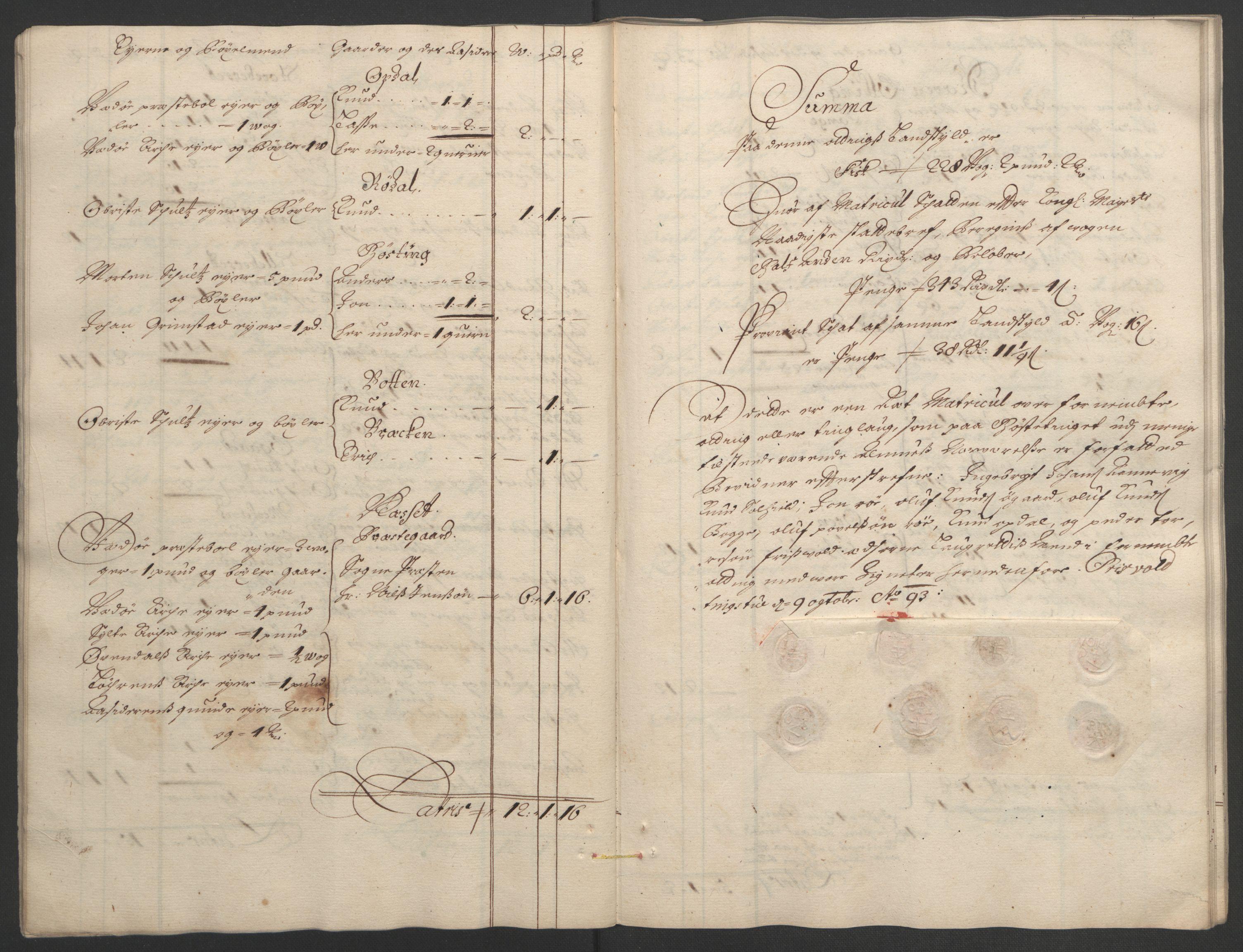 RA, Rentekammeret inntil 1814, Reviderte regnskaper, Fogderegnskap, R55/L3651: Fogderegnskap Romsdal, 1693-1694, s. 26
