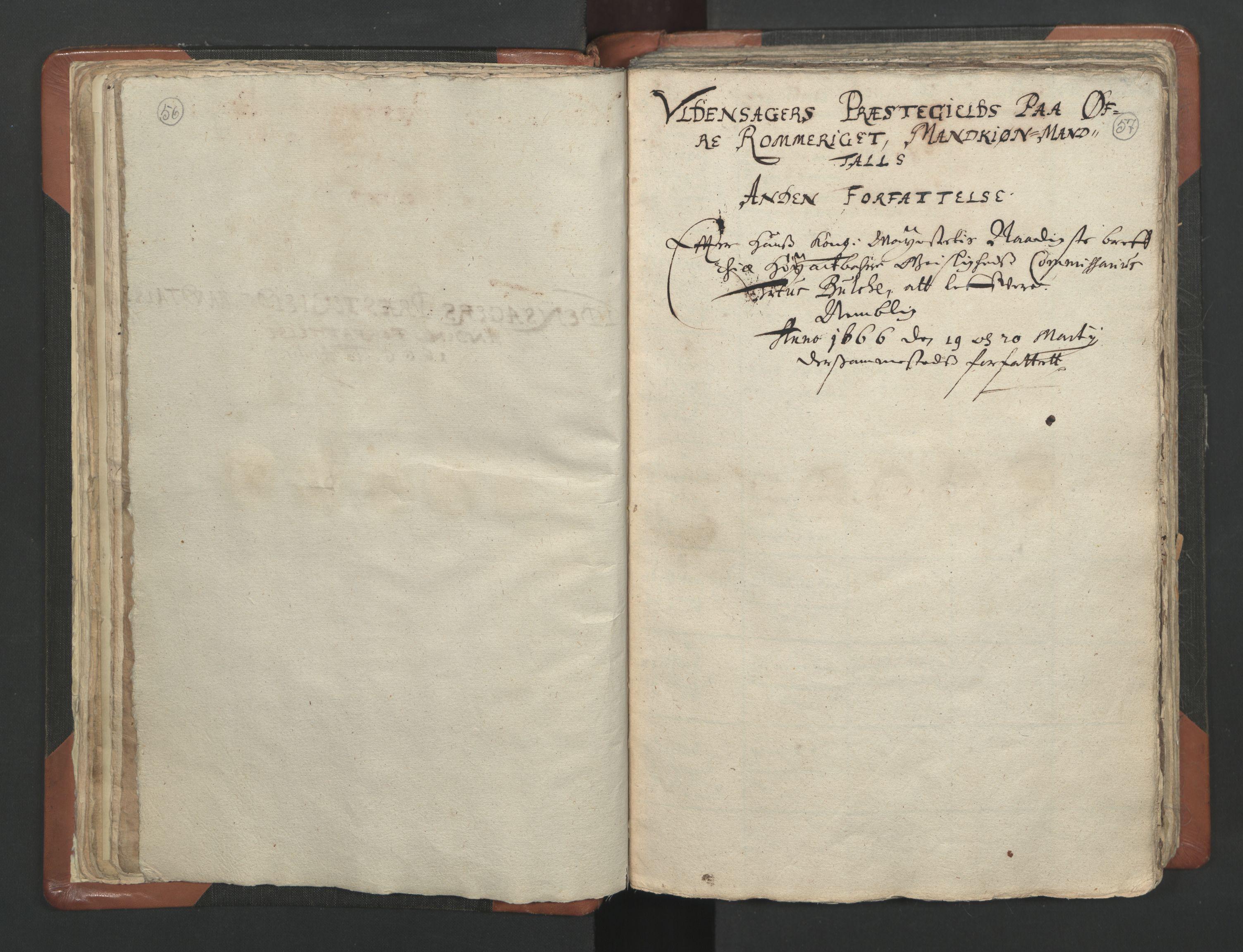 RA, Sogneprestenes manntall 1664-1666, nr. 4: Øvre Romerike prosti, 1664-1666, s. 56-57