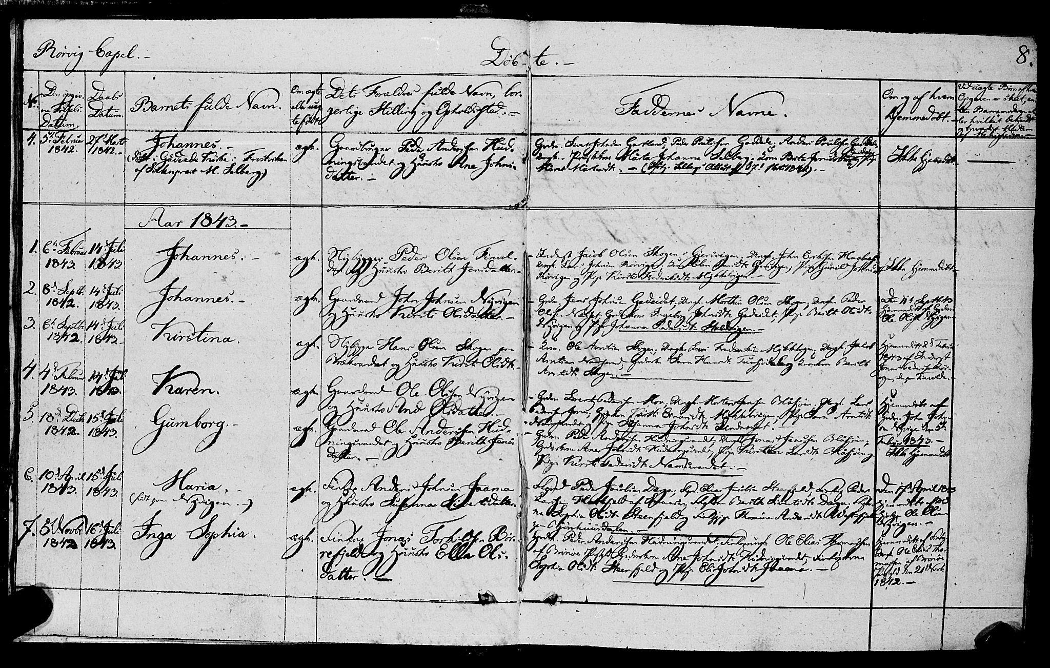 SAT, Ministerialprotokoller, klokkerbøker og fødselsregistre - Nord-Trøndelag, 762/L0538: Ministerialbok nr. 762A02 /1, 1833-1879, s. 8