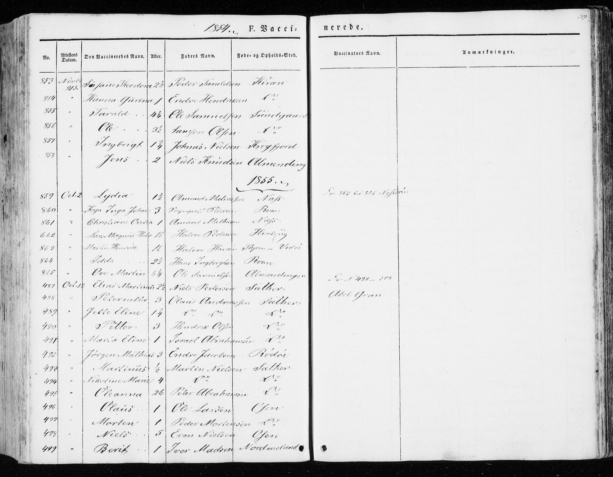 SAT, Ministerialprotokoller, klokkerbøker og fødselsregistre - Sør-Trøndelag, 657/L0704: Ministerialbok nr. 657A05, 1846-1857, s. 329