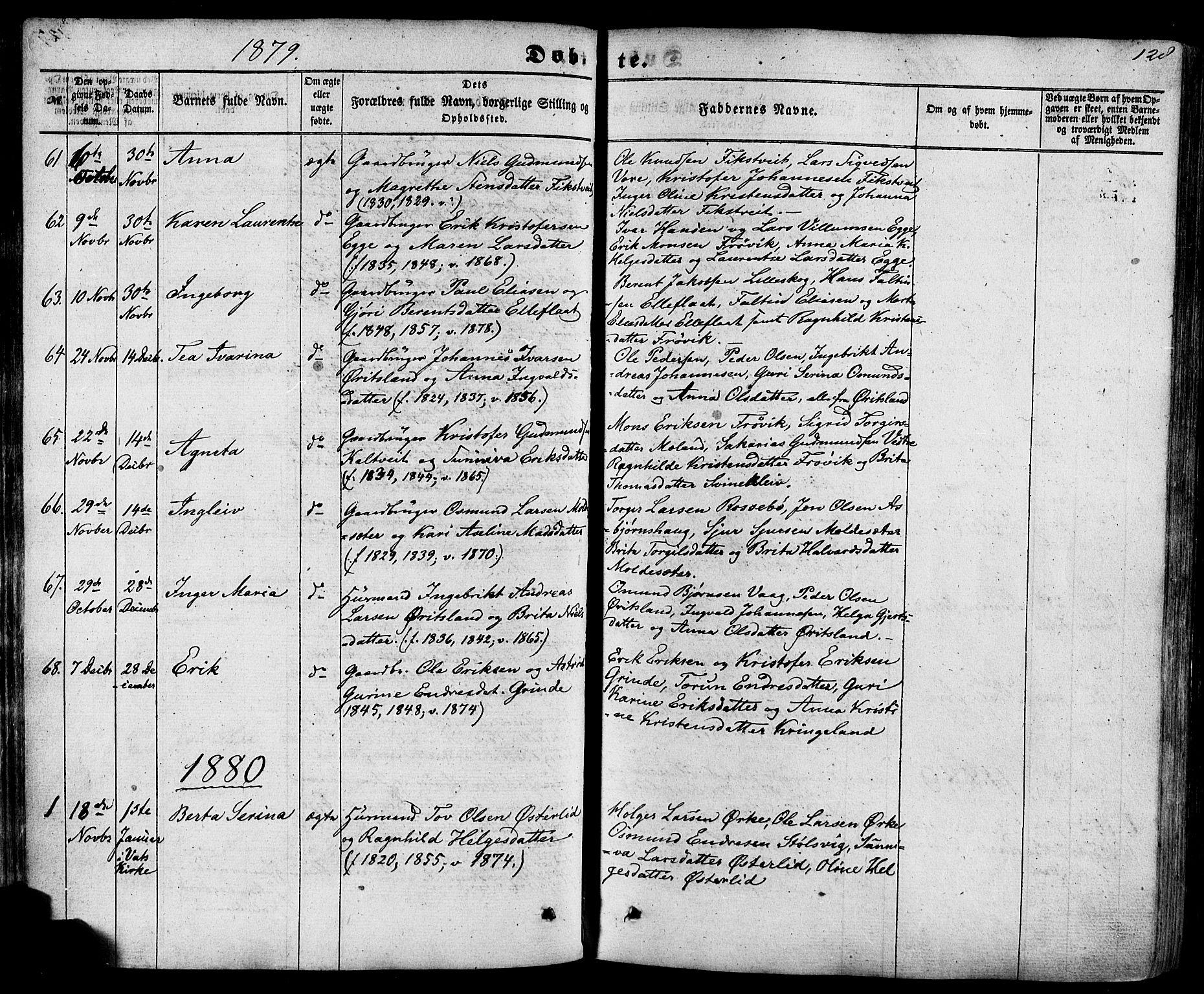 SAST, Skjold sokneprestkontor, H/Ha/Haa/L0008: Ministerialbok nr. A 8, 1856-1882, s. 128
