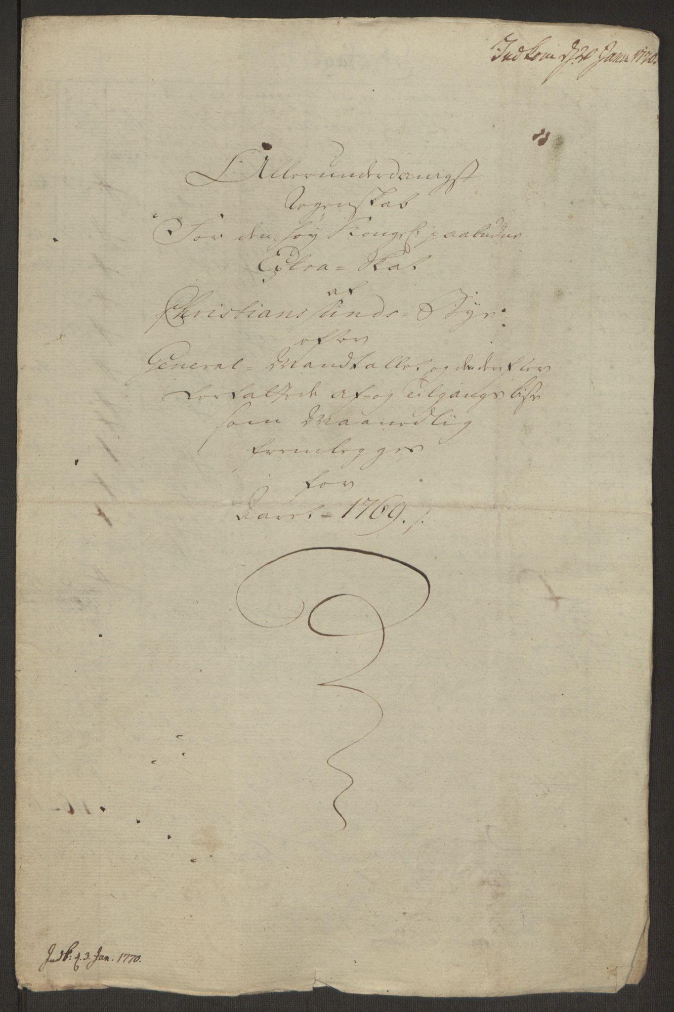 RA, Rentekammeret inntil 1814, Reviderte regnskaper, Byregnskaper, R/Rr/L0495: [R1] Kontribusjonsregnskap, 1762-1772, s. 212