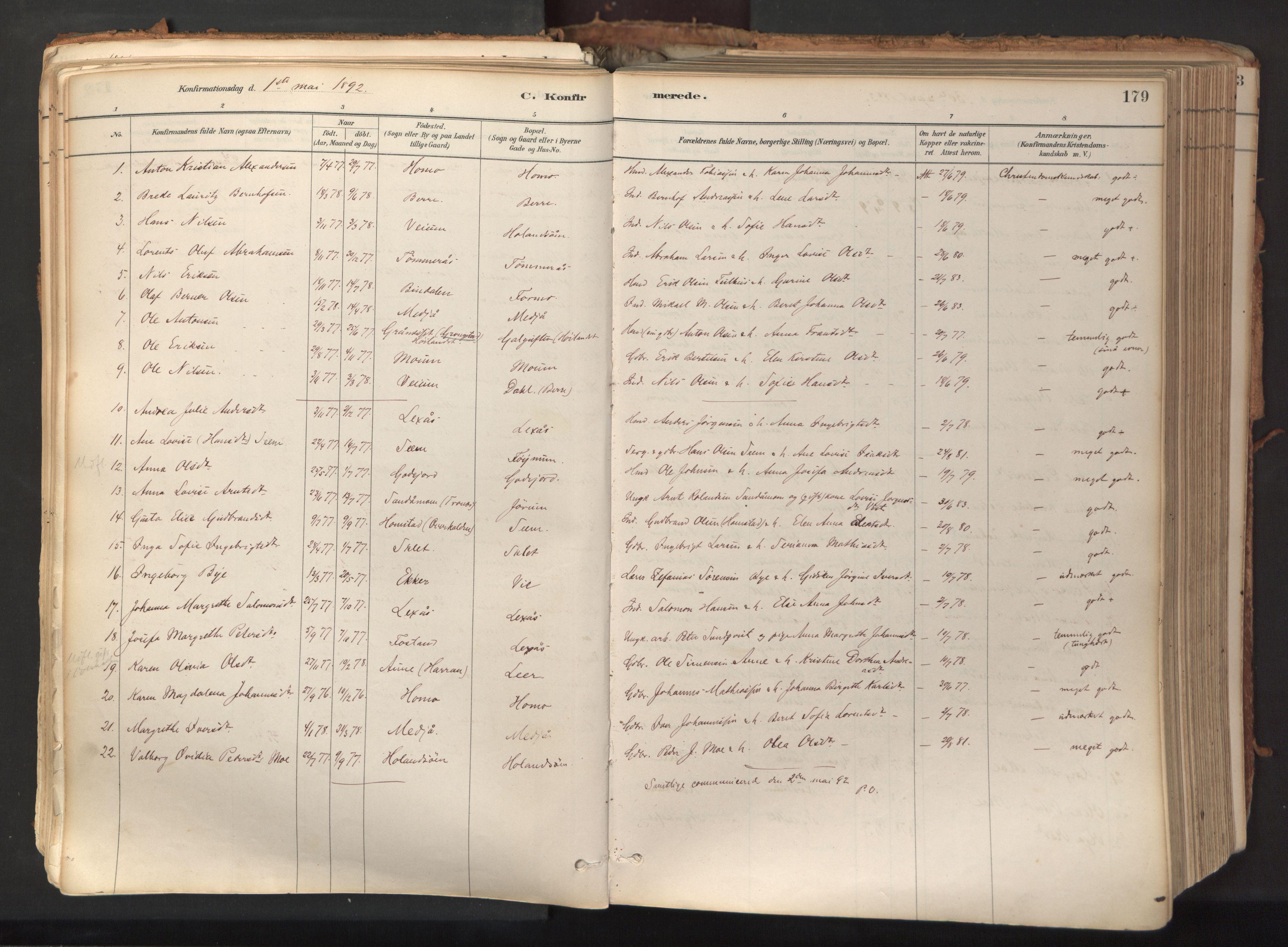 SAT, Ministerialprotokoller, klokkerbøker og fødselsregistre - Nord-Trøndelag, 758/L0519: Ministerialbok nr. 758A04, 1880-1926, s. 179