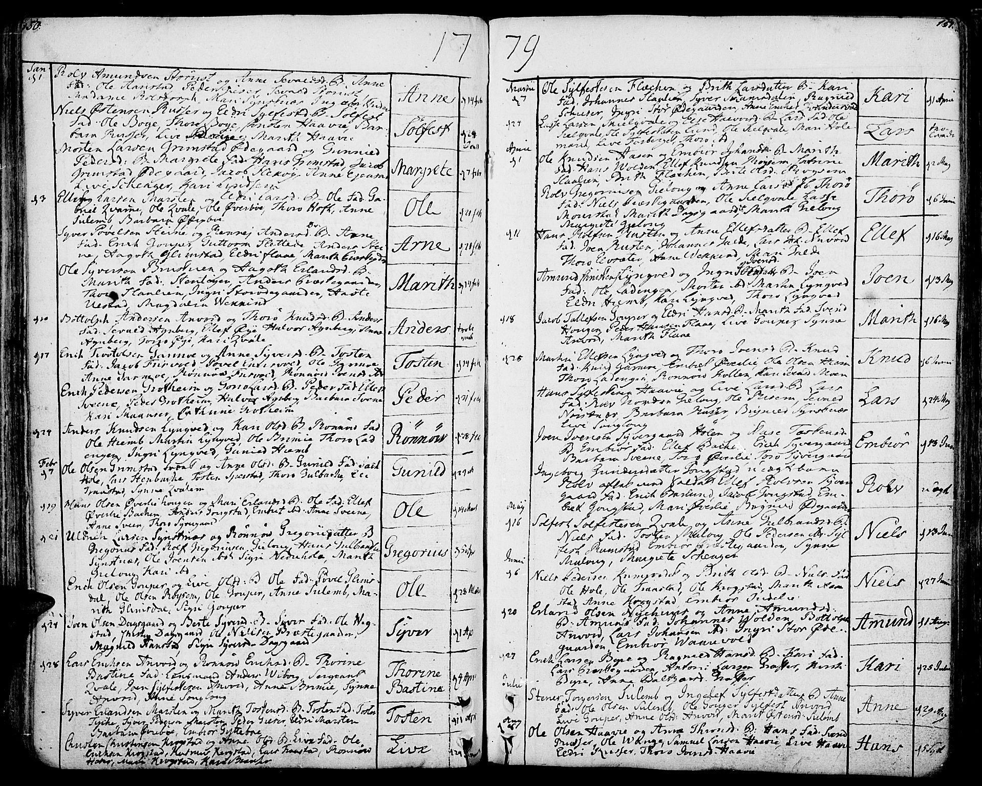 SAH, Lom prestekontor, K/L0002: Ministerialbok nr. 2, 1749-1801, s. 150-151
