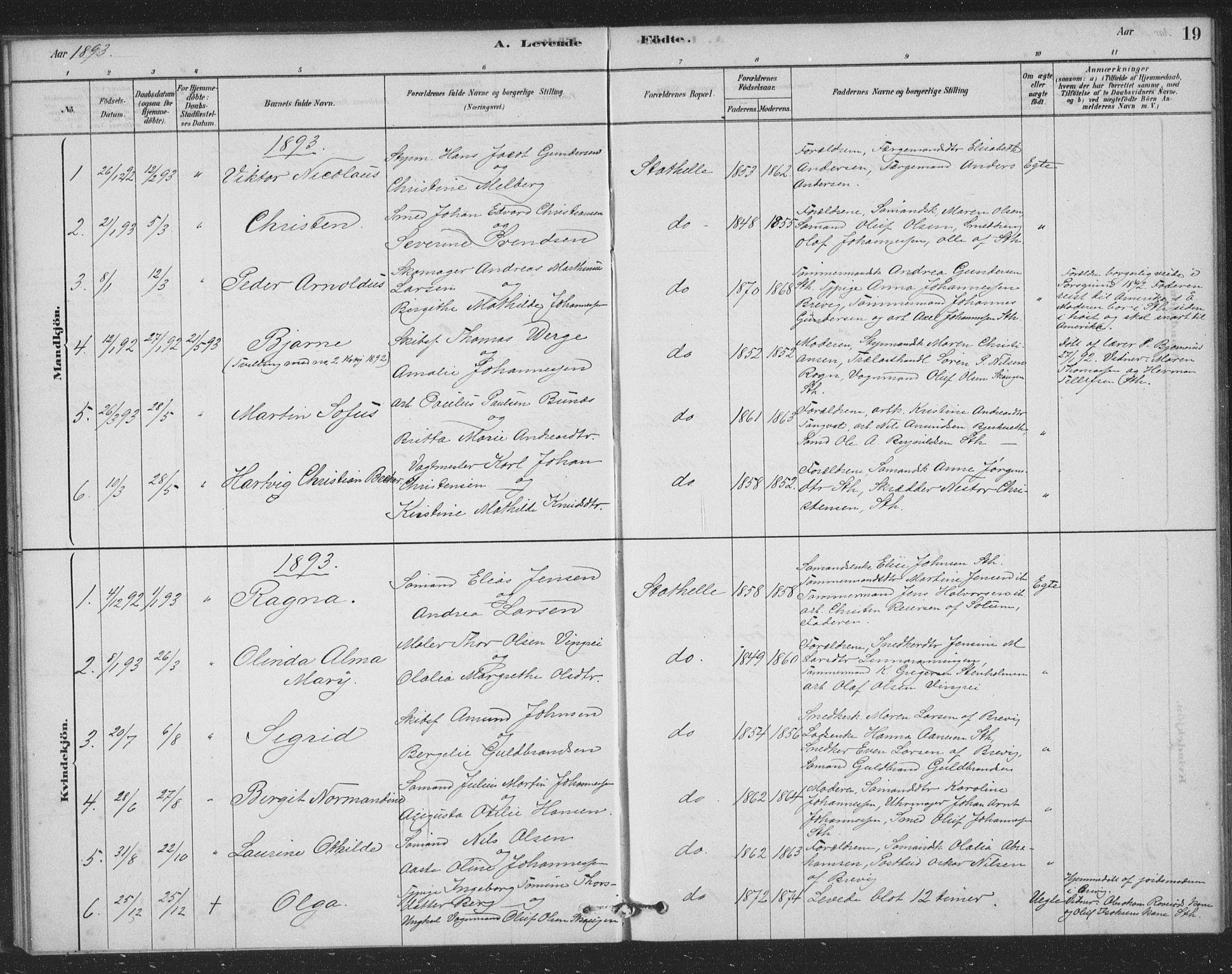 SAKO, Bamble kirkebøker, F/Fb/L0001: Ministerialbok nr. II 1, 1878-1899, s. 19