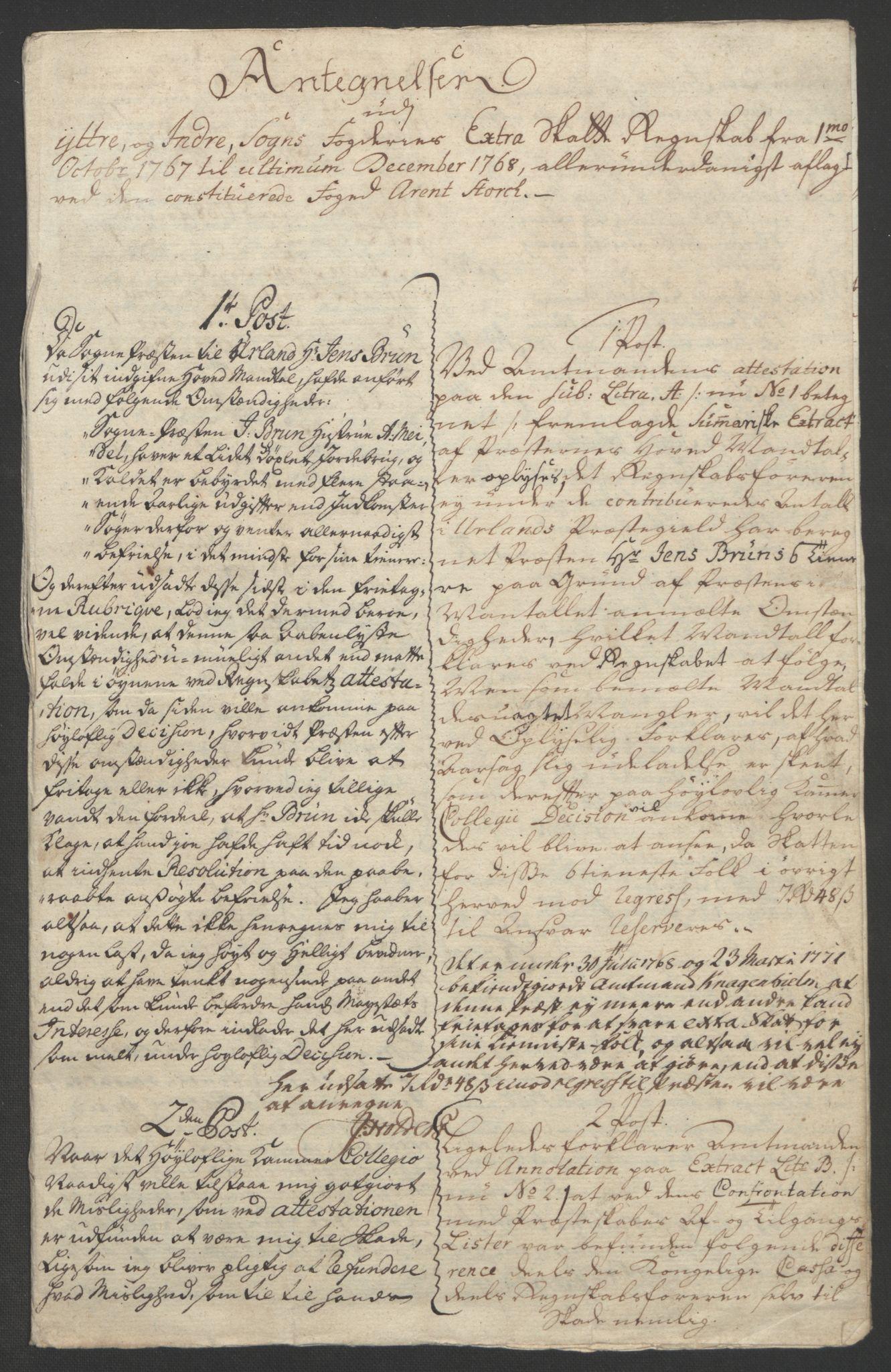 RA, Rentekammeret inntil 1814, Realistisk ordnet avdeling, Ol/L0018: [Gg 10]: Ekstraskatten, 23.09.1762. Sogn, 1762-1772, s. 207