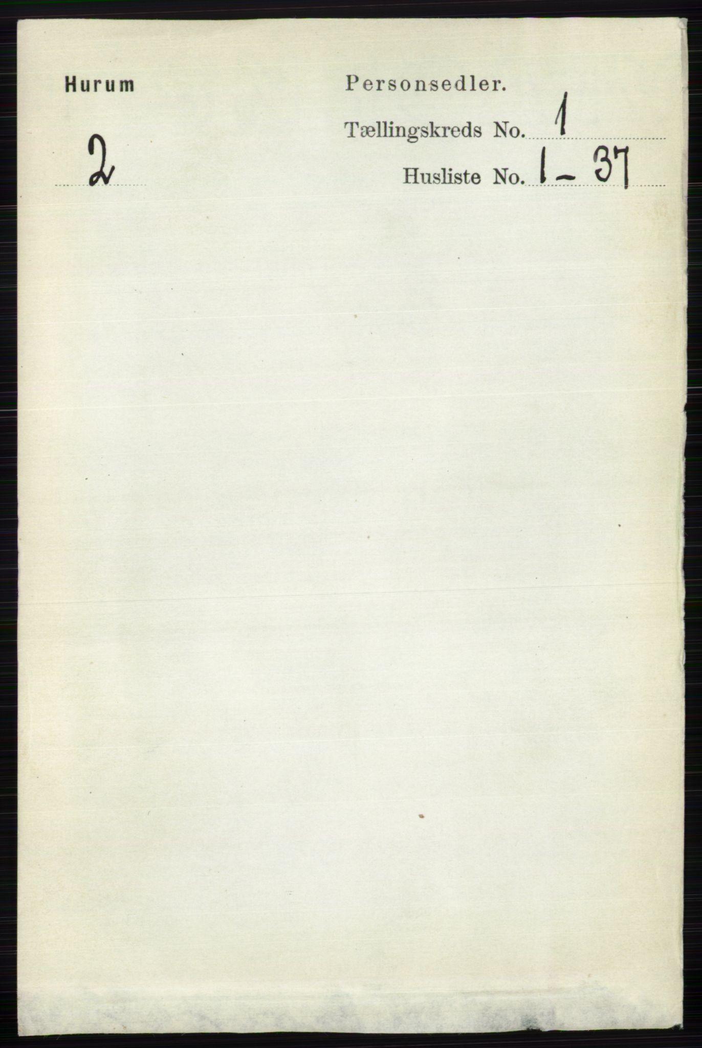 RA, Folketelling 1891 for 0628 Hurum herred, 1891, s. 85