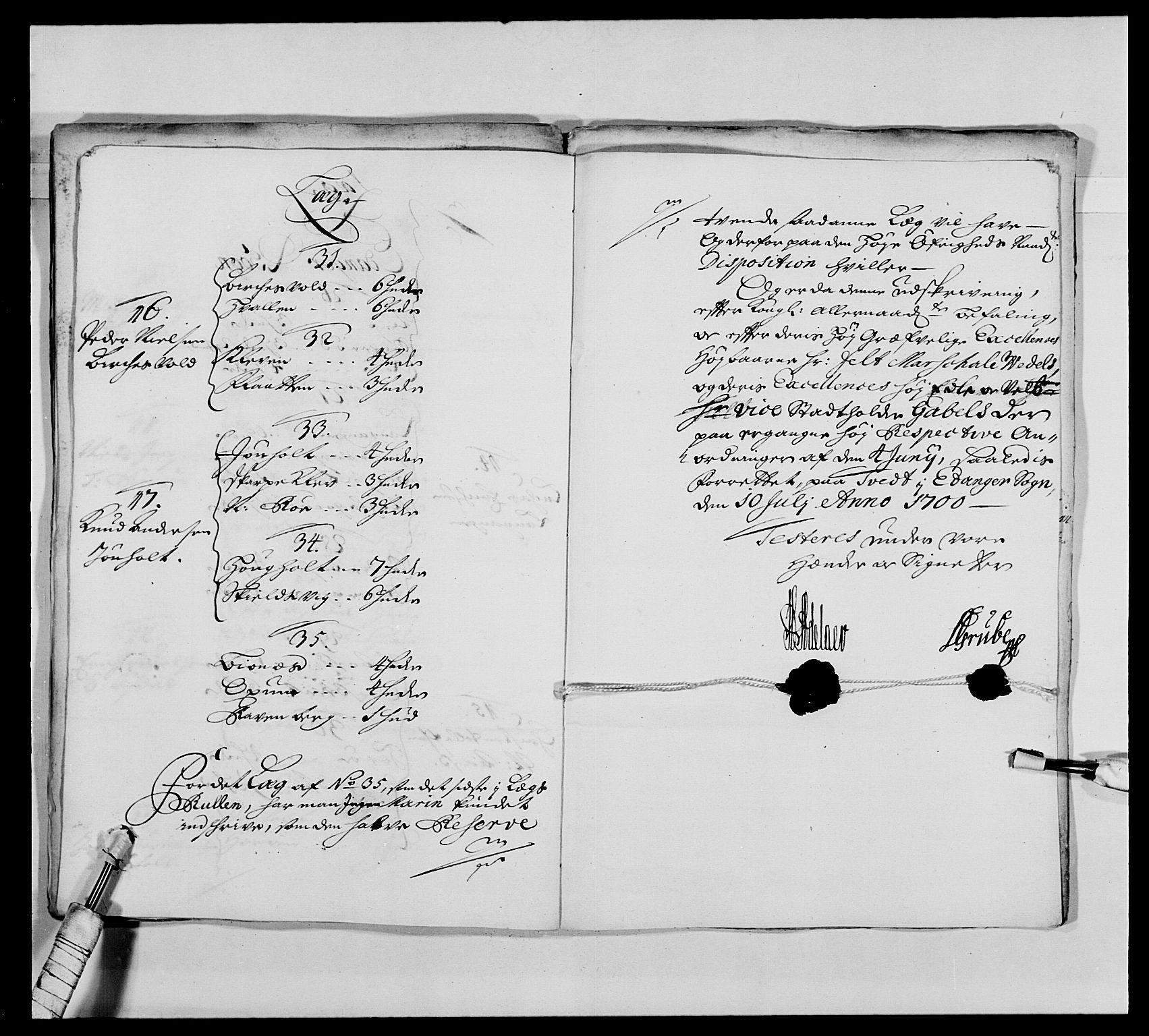 RA, Kommanderende general (KG I) med Det norske krigsdirektorium, E/Ea/L0473: Marineregimentet, 1664-1700, s. 300